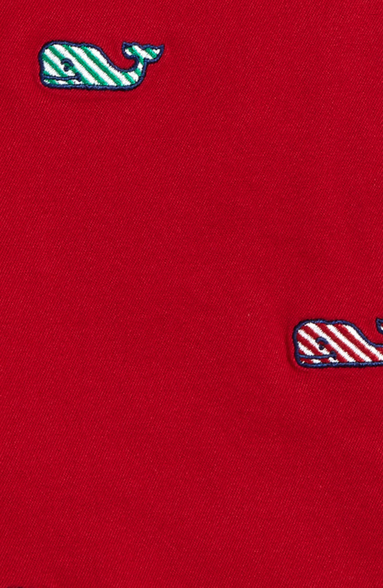 Candy Cane Whale Breaker Shorts,                             Alternate thumbnail 2, color,                             Lifeguard Red