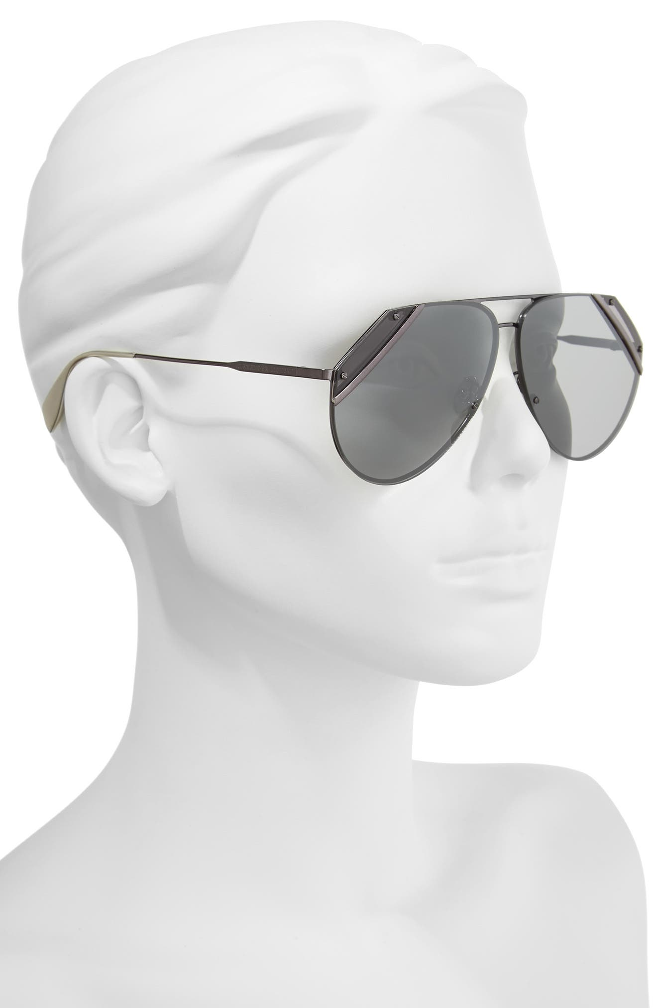 Alternate Image 2  - Alexander McQueen 65mm Snip Frame Aviator Sunglasses