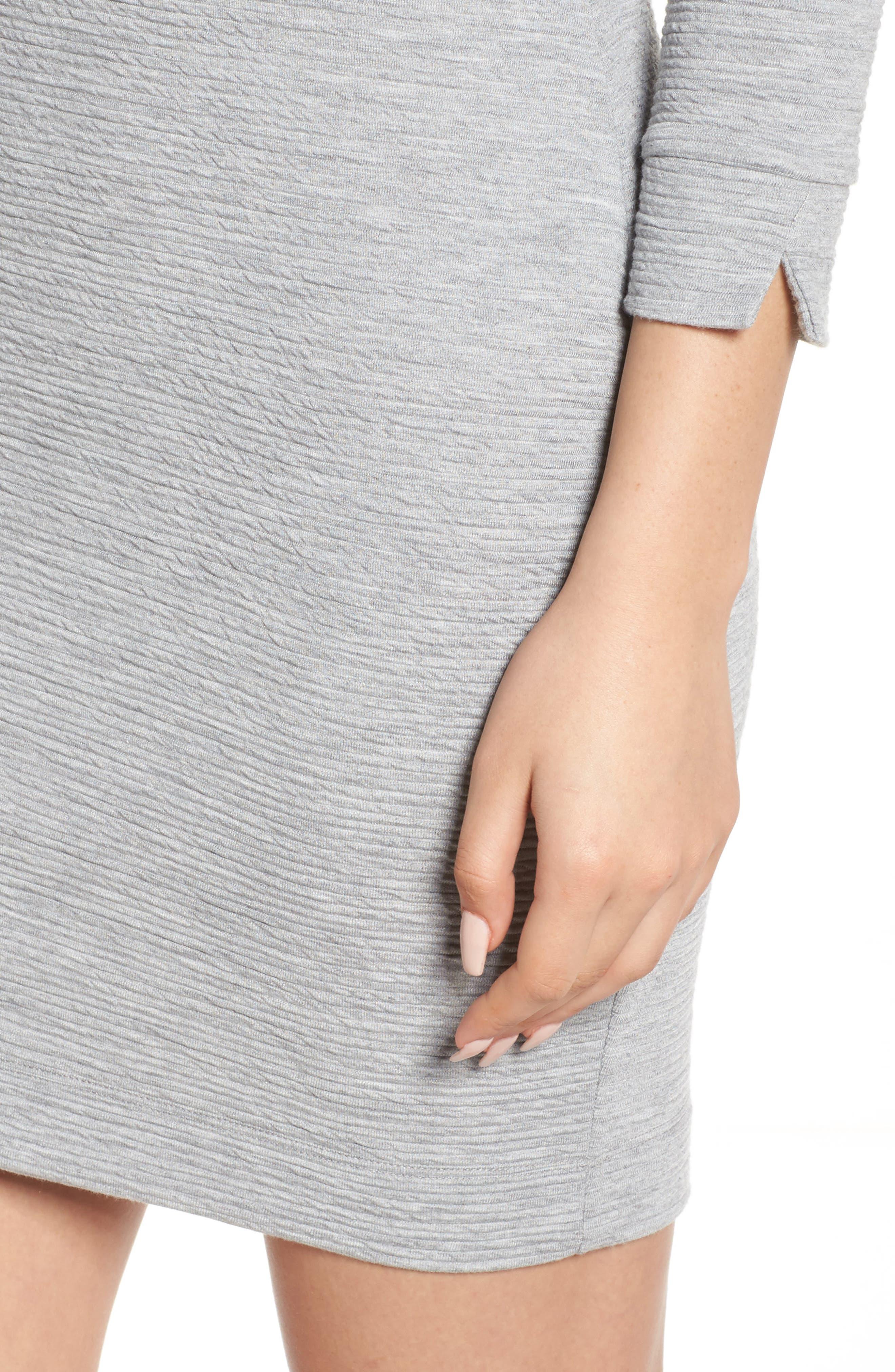 Sudan Marl Sheath Dress,                             Alternate thumbnail 4, color,                             Mid Grey Mel