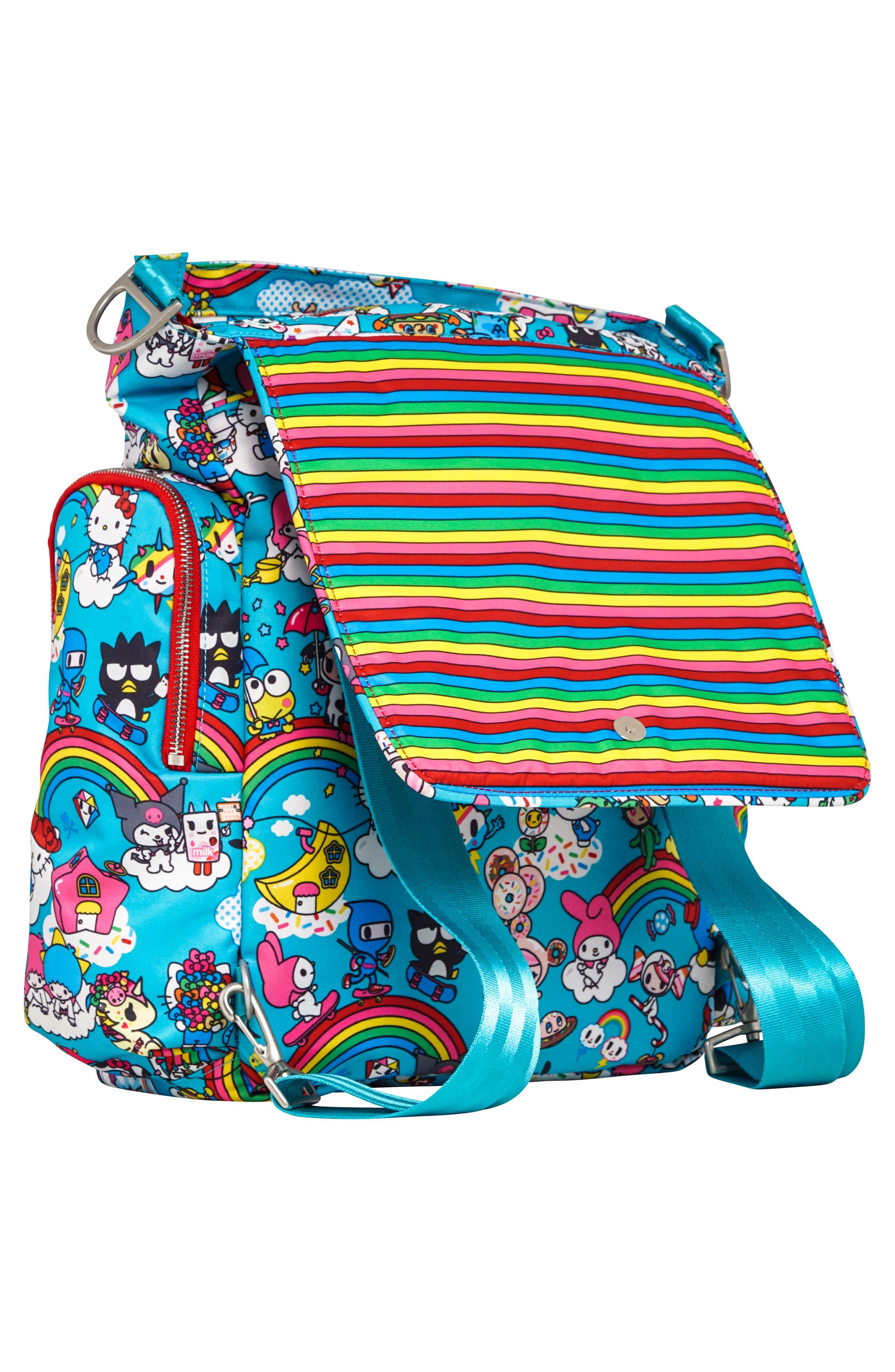 x tokidoki for Hello Sanrio Rainbow Dreams Sporty Diaper Backpack,                             Alternate thumbnail 6, color,                             Rainbow Dreams
