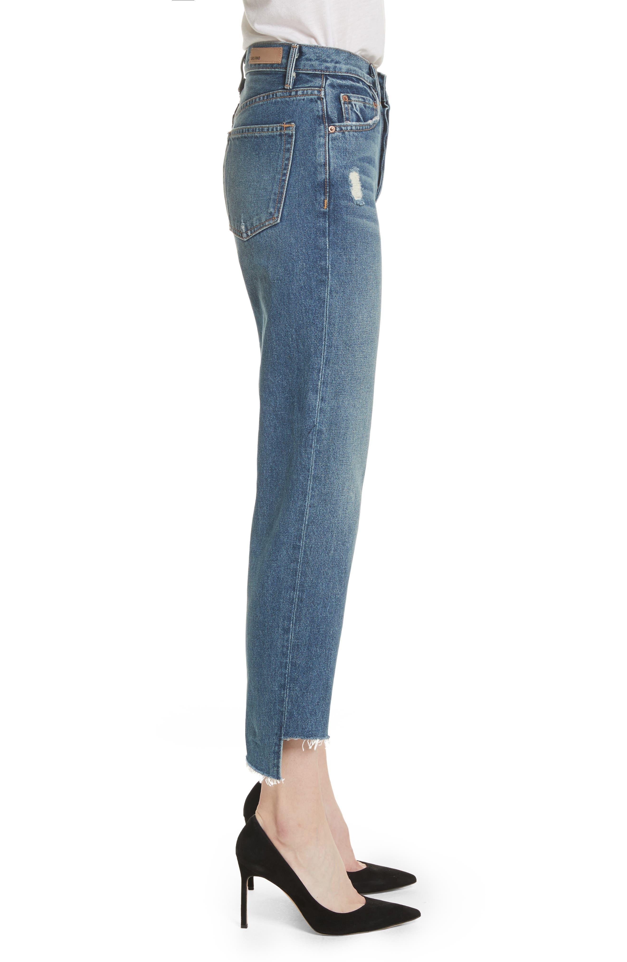 Alternate Image 3  - GRLFRND Helena Rigid High Waist Straight Jeans (Close To You)