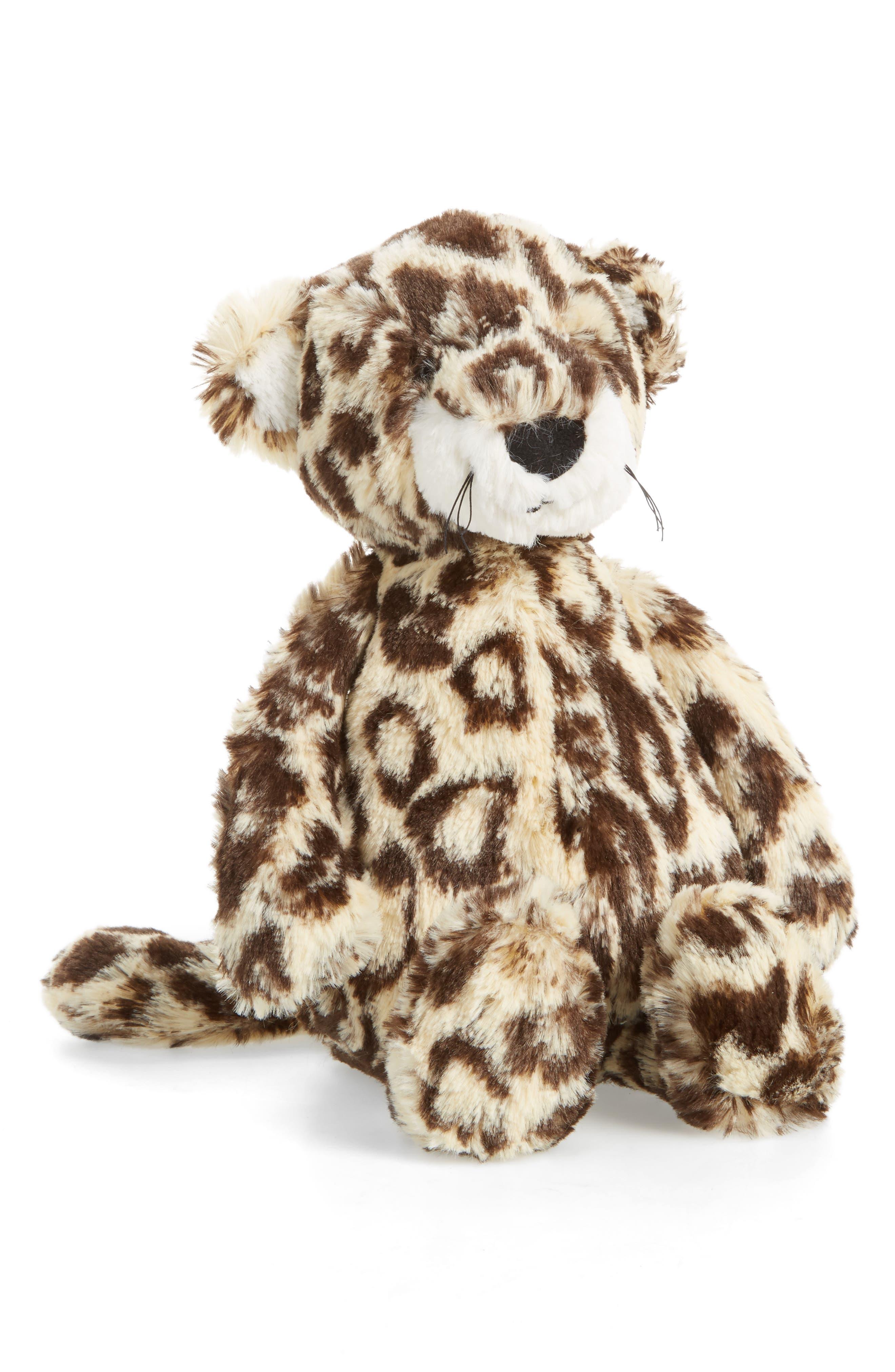 Bashful Leopard Stuffed Animal,                         Main,                         color, Tan/ Black