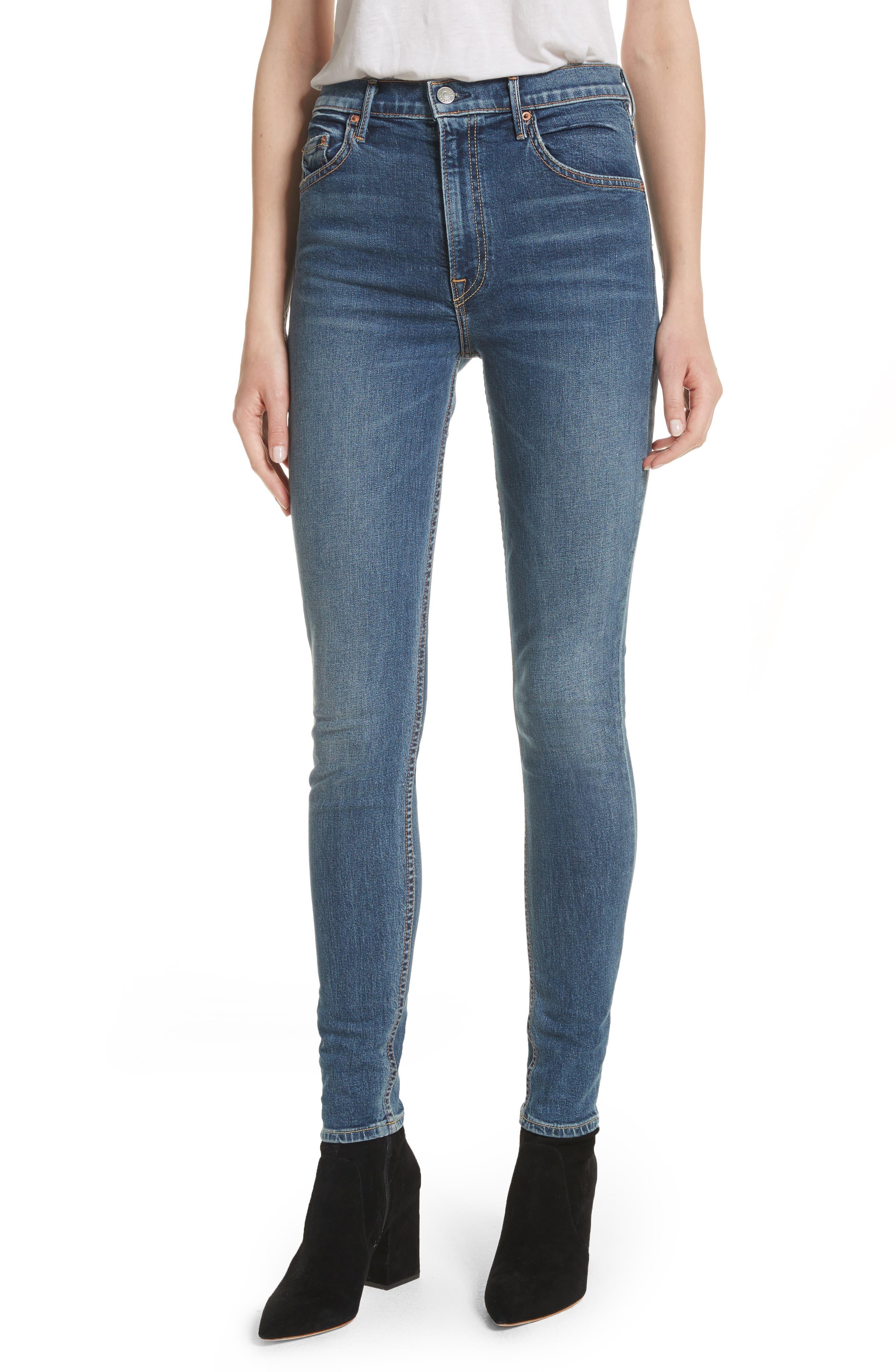 Main Image - GRLFRND Kendall Super Stretch High Waist Skinny Jeans (No More Tears)