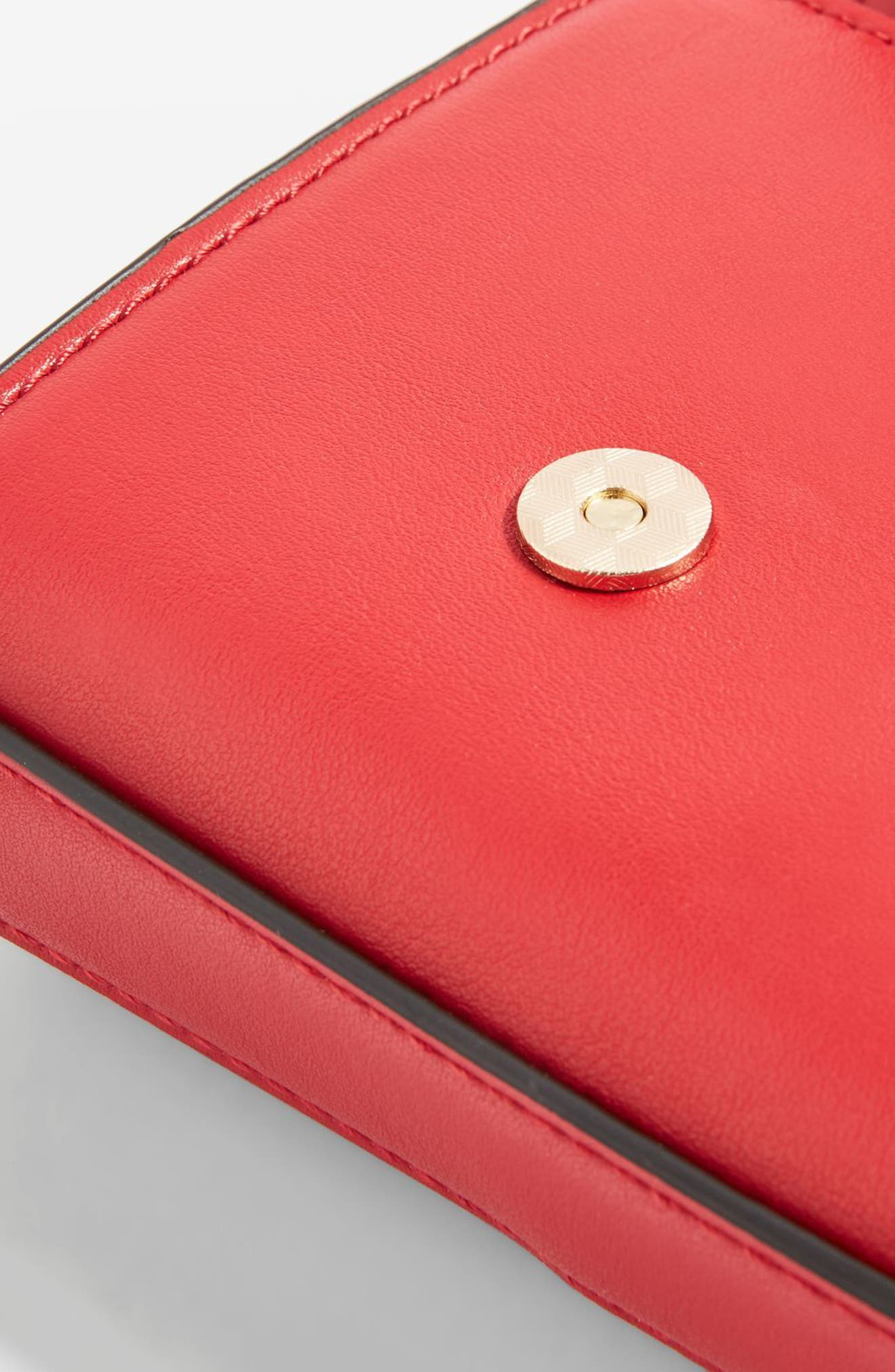 Rome Hex Hardware Crossbody Bag,                             Alternate thumbnail 3, color,                             Red