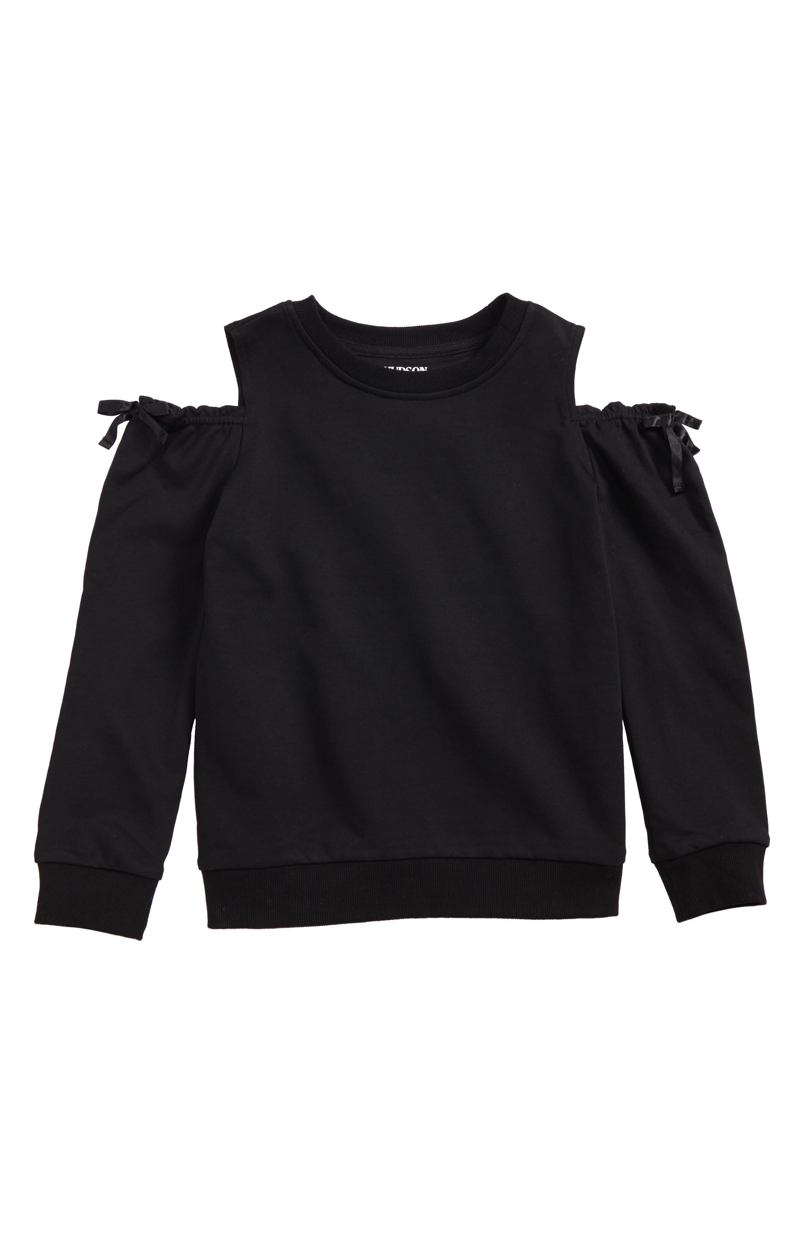 Hudson Kids Cold Shoulder Sweatshirt (Big Girls)