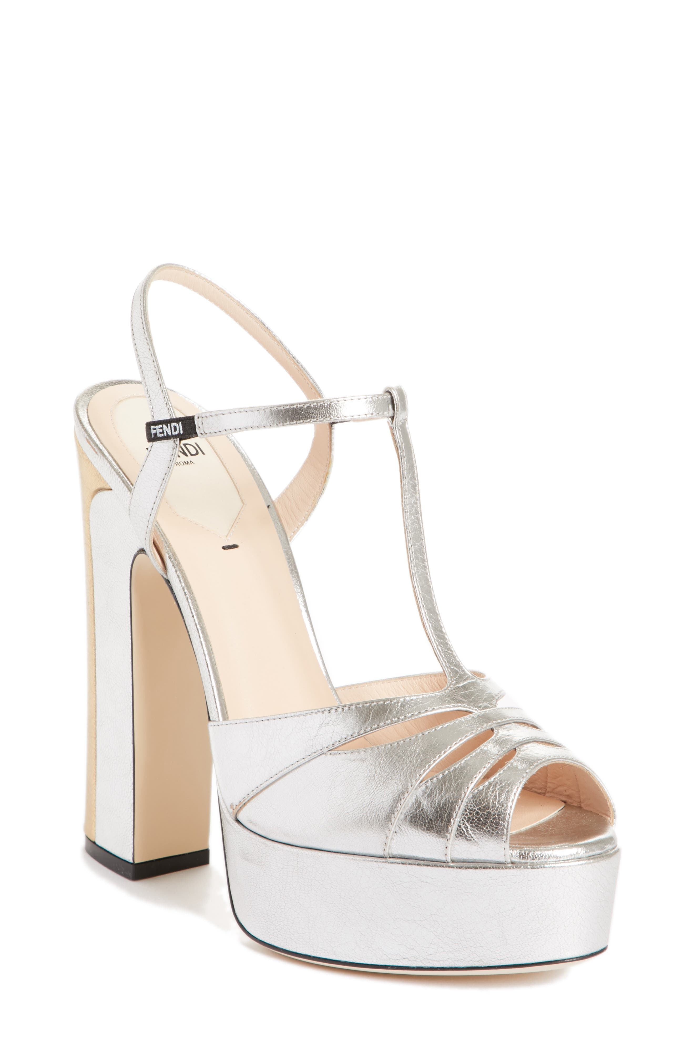 Alternate Image 1 Selected - Fendi Duo Platform Sandal (Women)