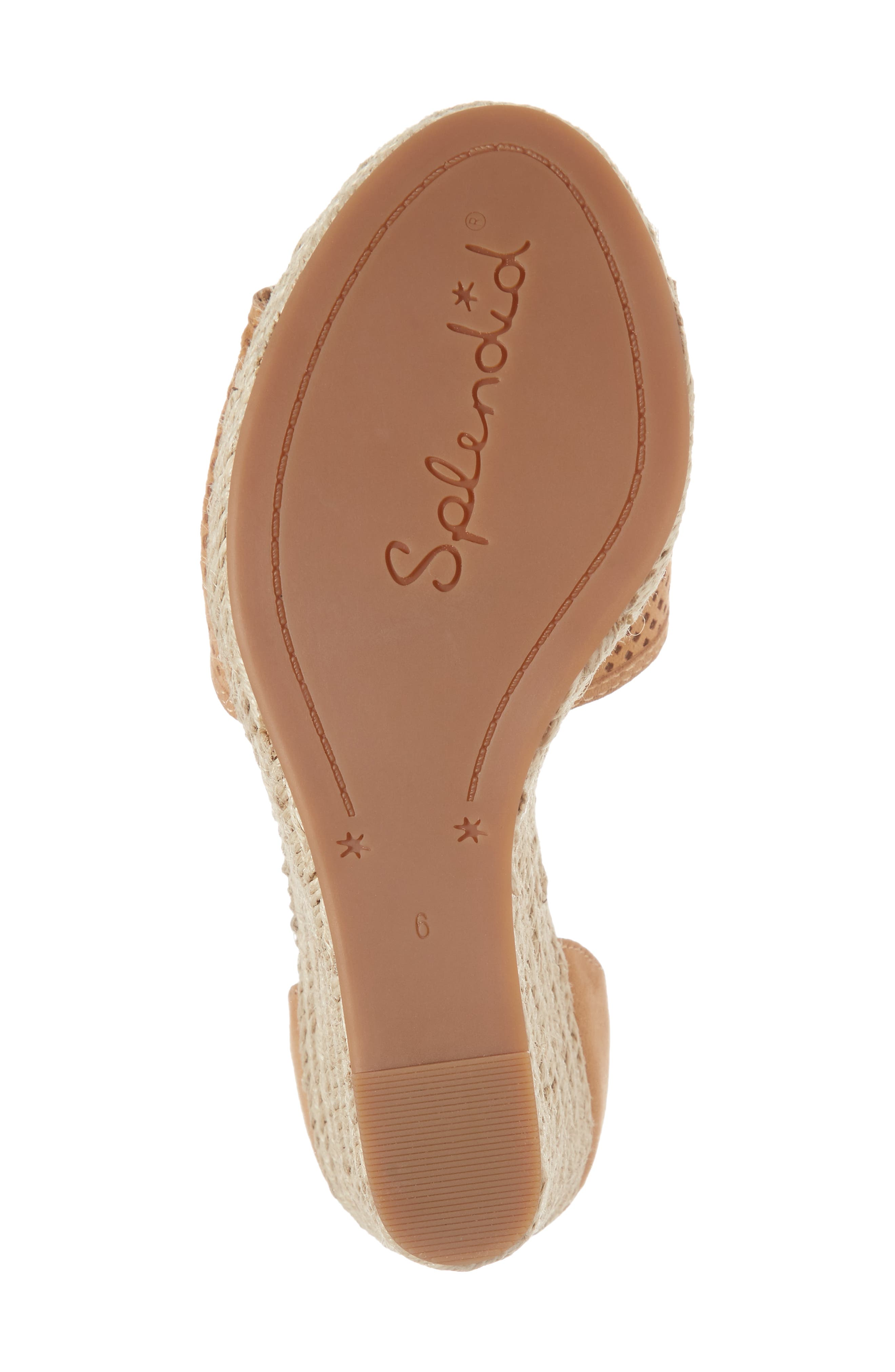Bentley Espadrille Wedge Sandal,                             Alternate thumbnail 6, color,                             Tan Suede