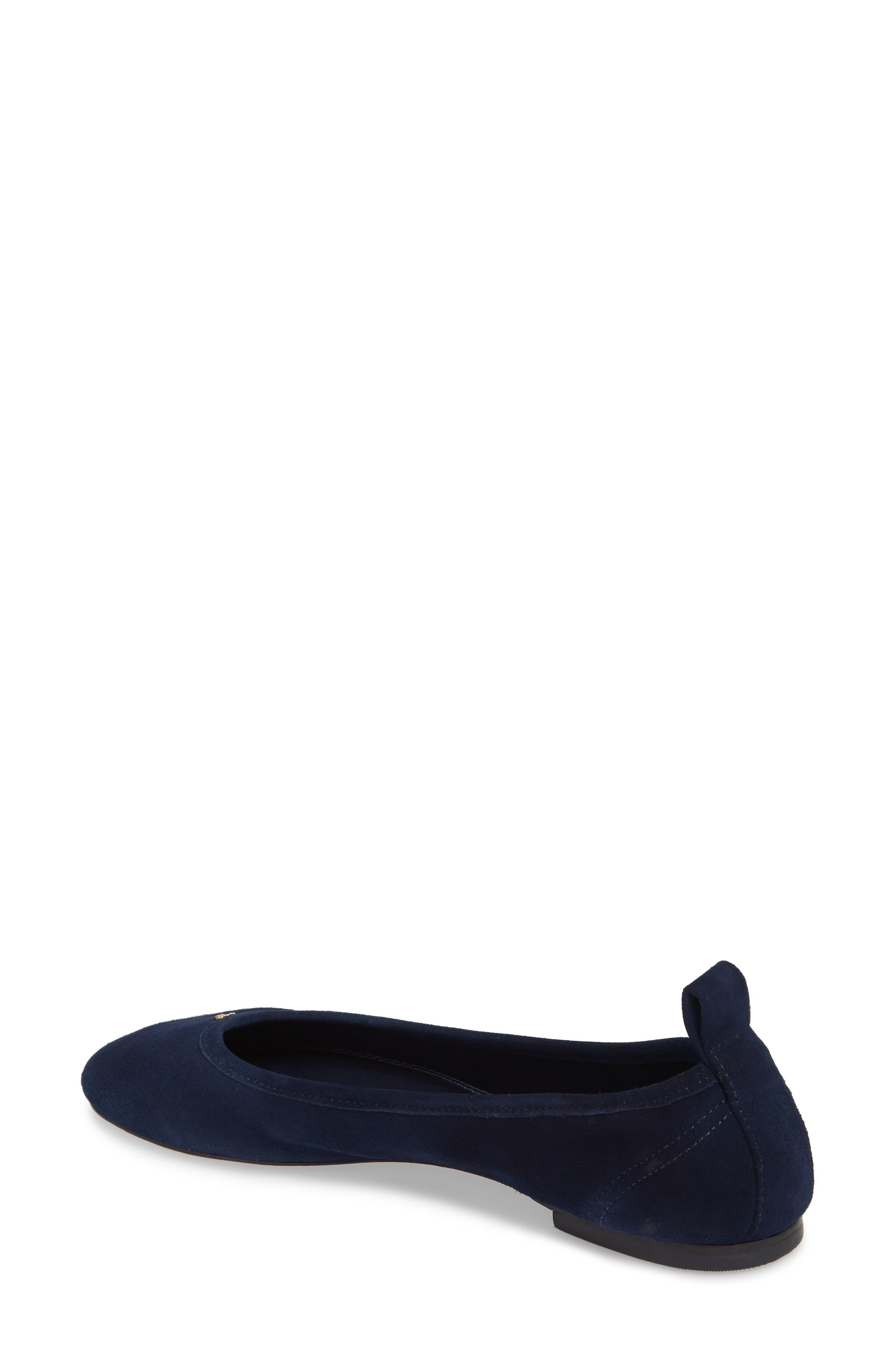 Therese Ballet Flat,                             Alternate thumbnail 2, color,                             Royal Navy