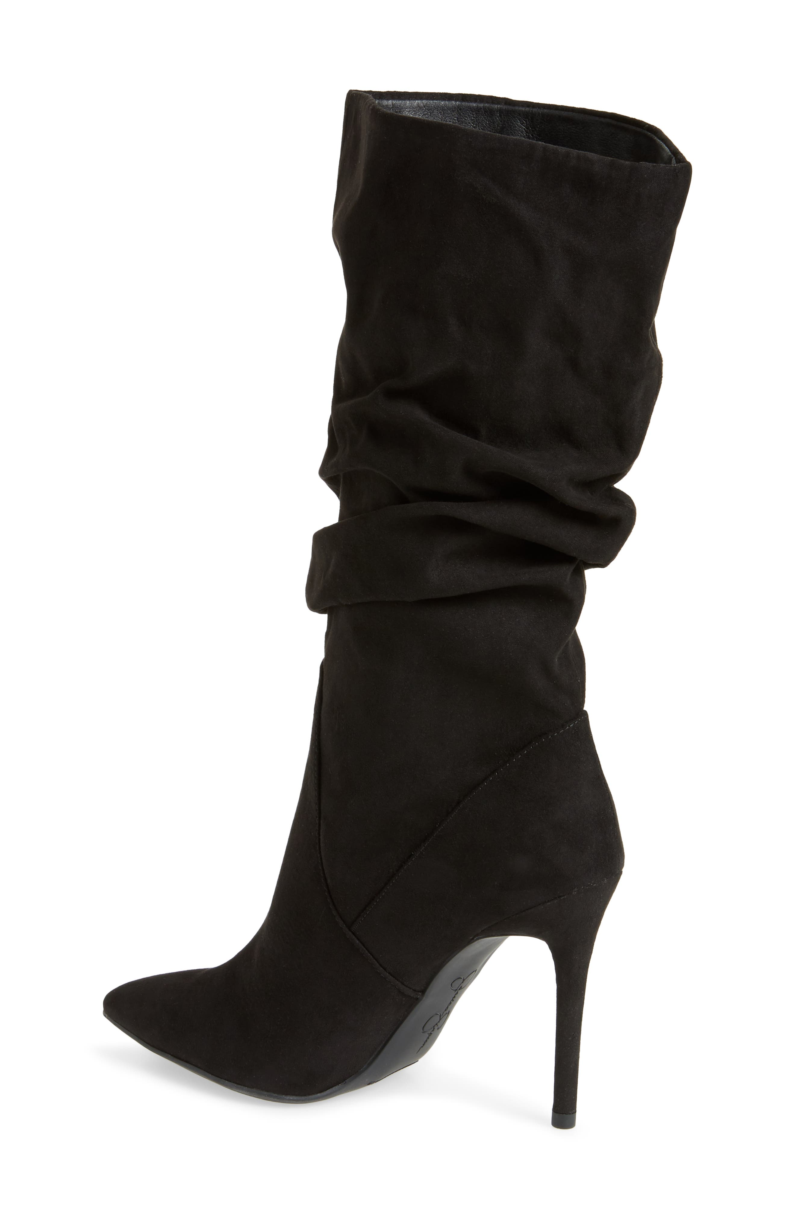 Lyndy Slouch Boot,                             Alternate thumbnail 2, color,                             Black