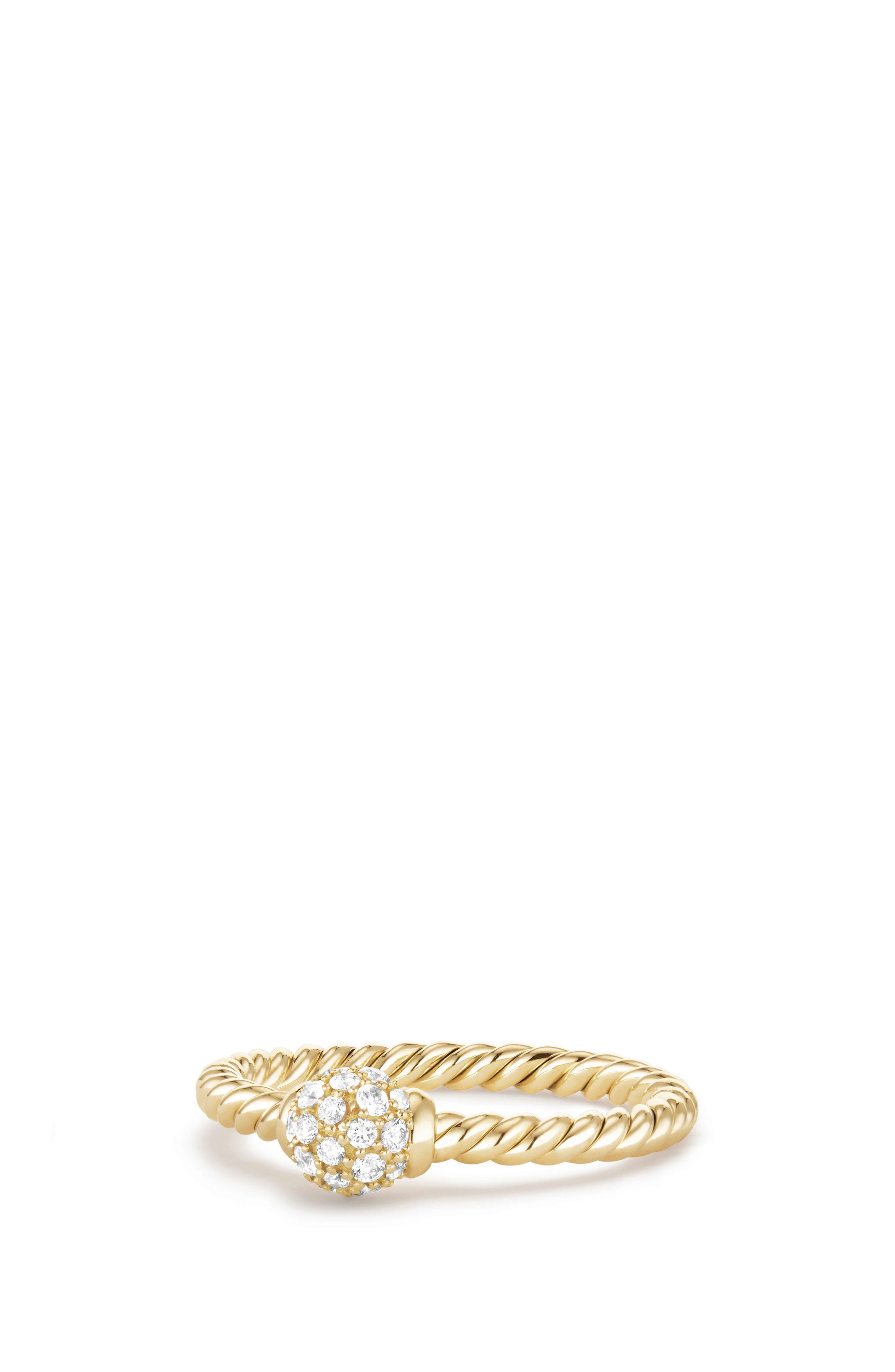 Solari Station Ring with Diamonds in 18K Gold,                         Main,                         color, Yellow Gold/ Diamond