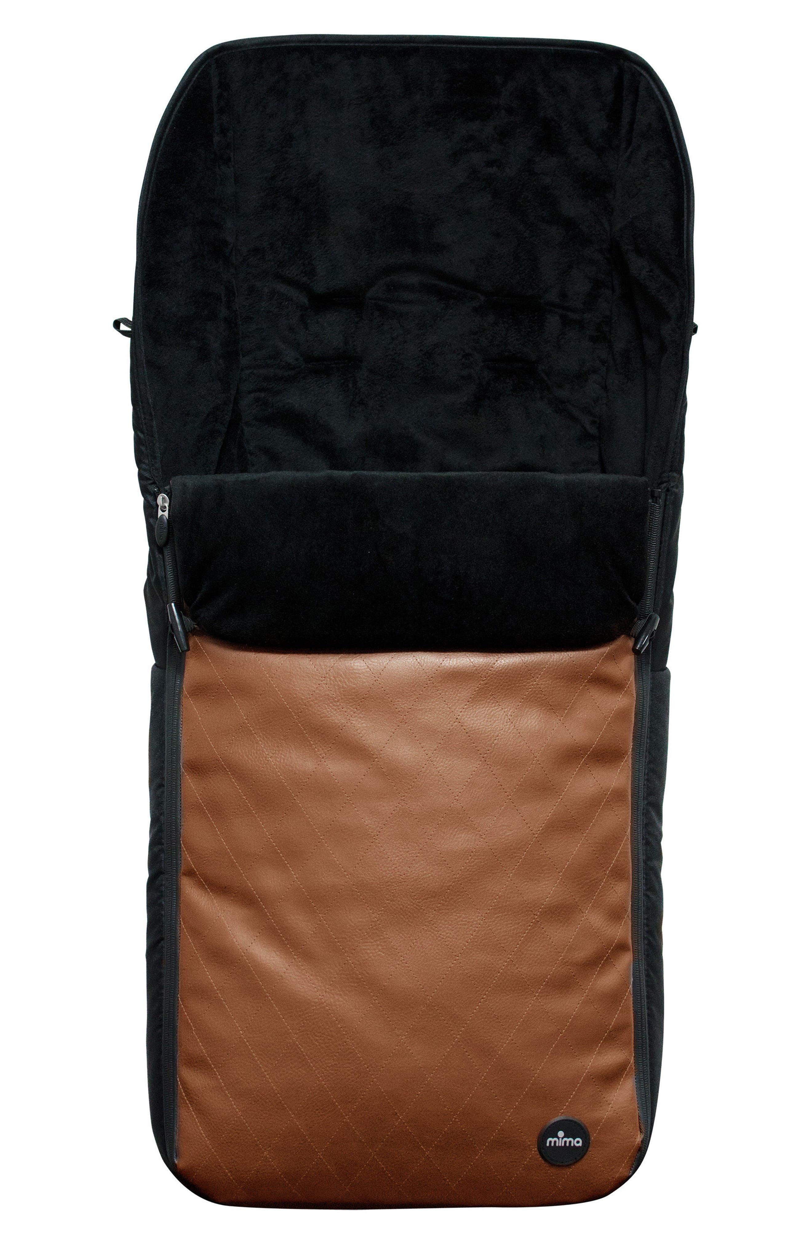 Faux Leather Footmuff,                         Main,                         color, Camel