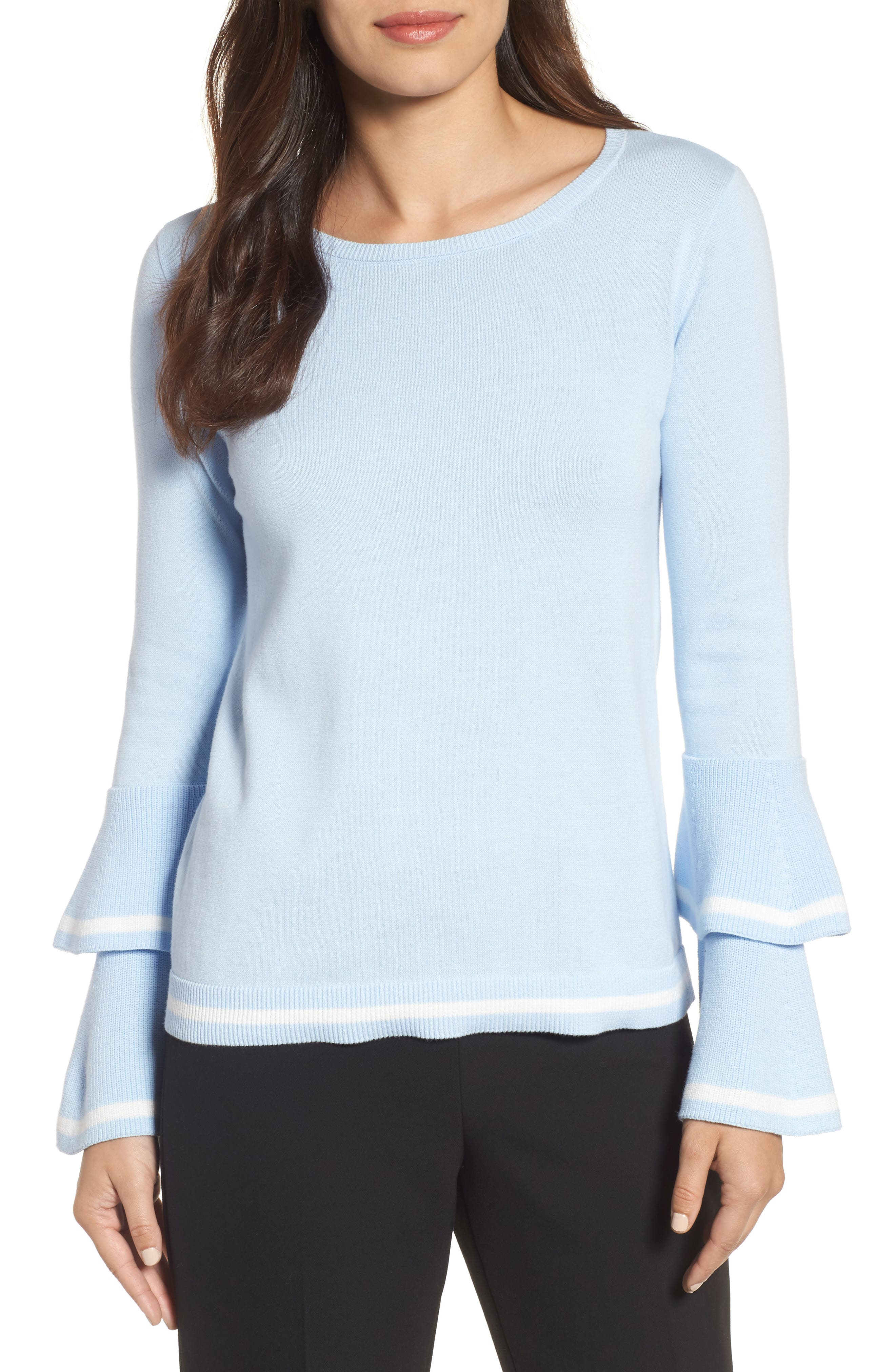 Main Image - CeCe Tiered Bell Sleeve Sweater