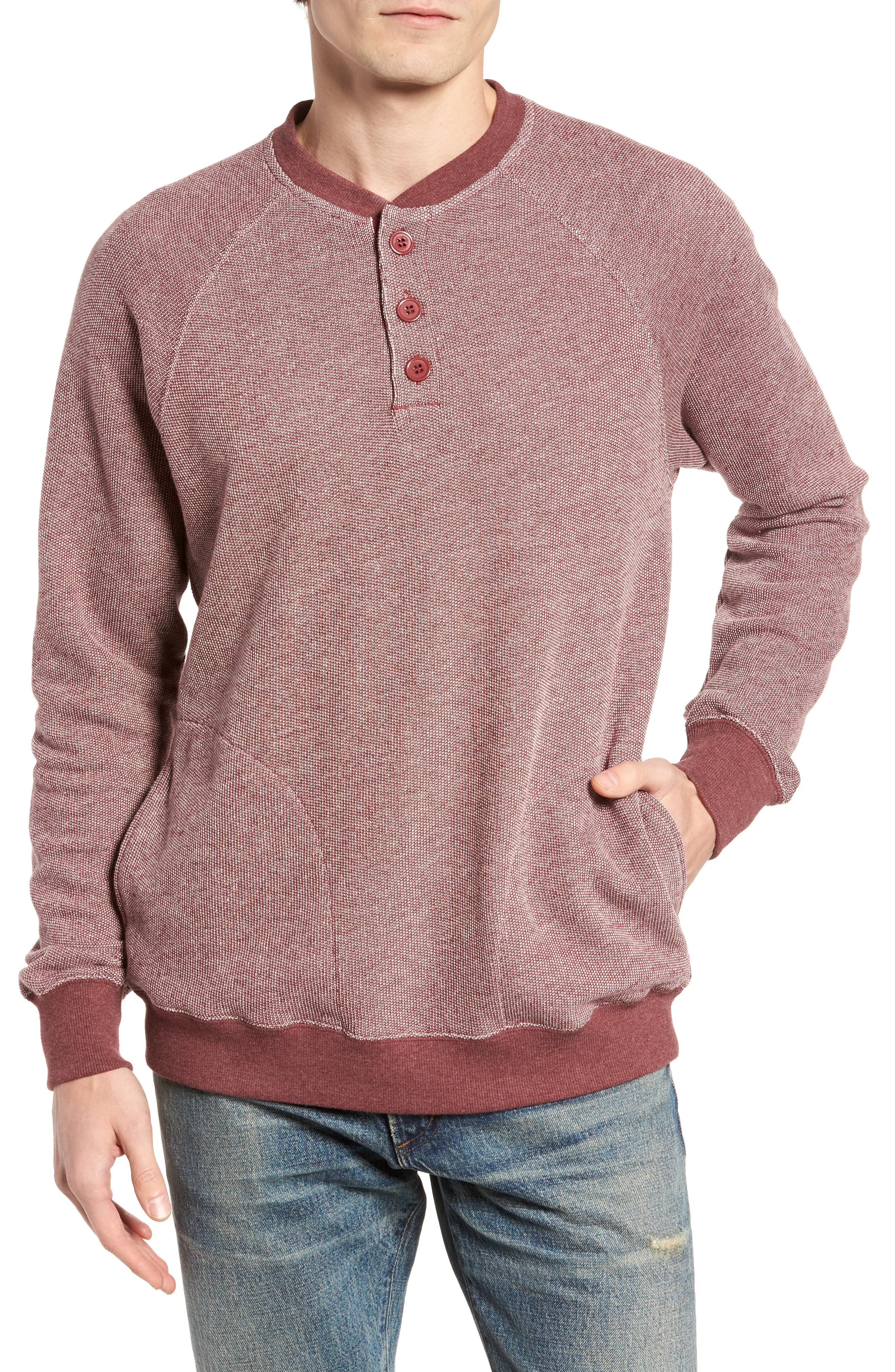 Capo Henley Pullover,                         Main,                         color, Tawny Port
