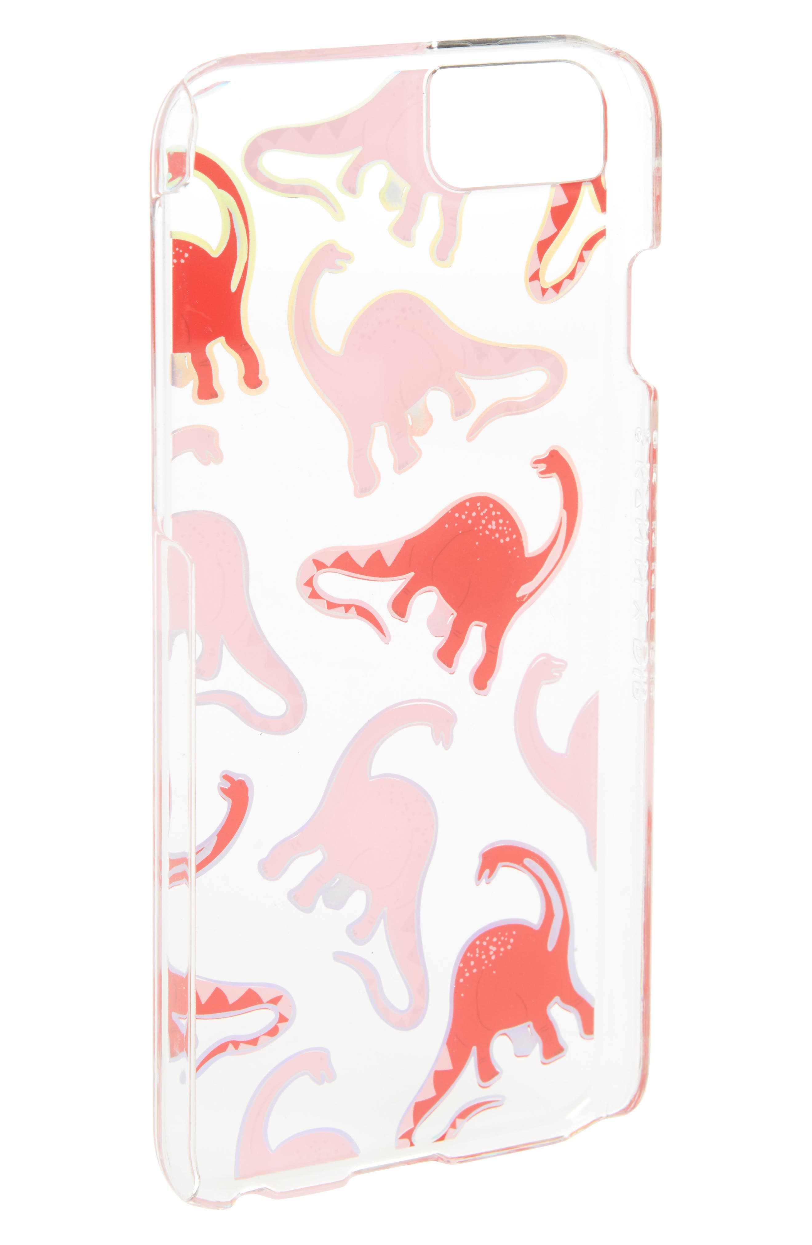 Skinny Dip Pink Dino iPhone 6/6s/7/8 or 6/6s/7/8 Plus Case,                             Alternate thumbnail 2, color,                             Pink