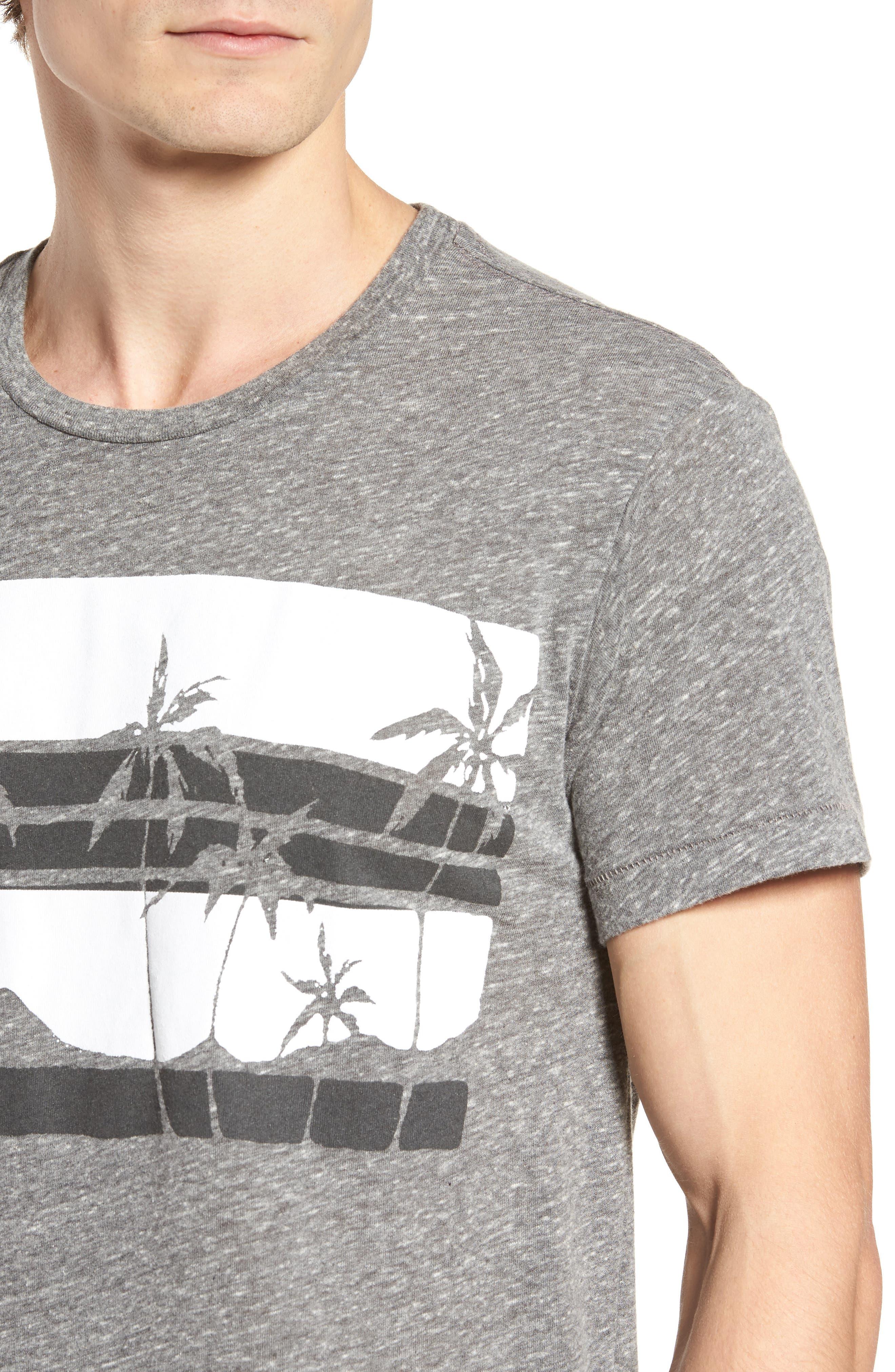 Las Palmas T-Shirt,                             Alternate thumbnail 4, color,                             Heather Grey