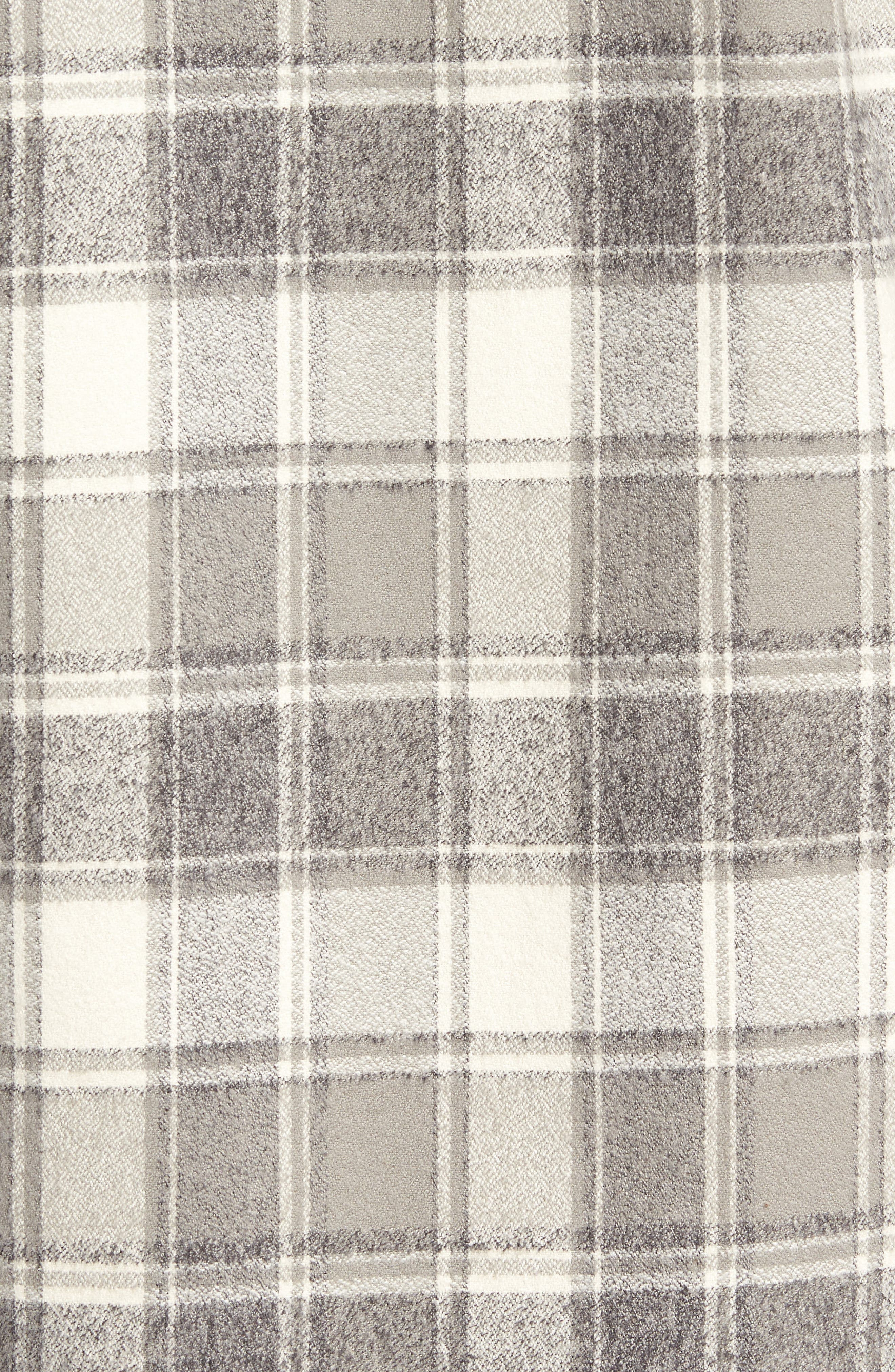 Ma Slim Fit Plaid Sport Shirt,                             Alternate thumbnail 5, color,                             Iron