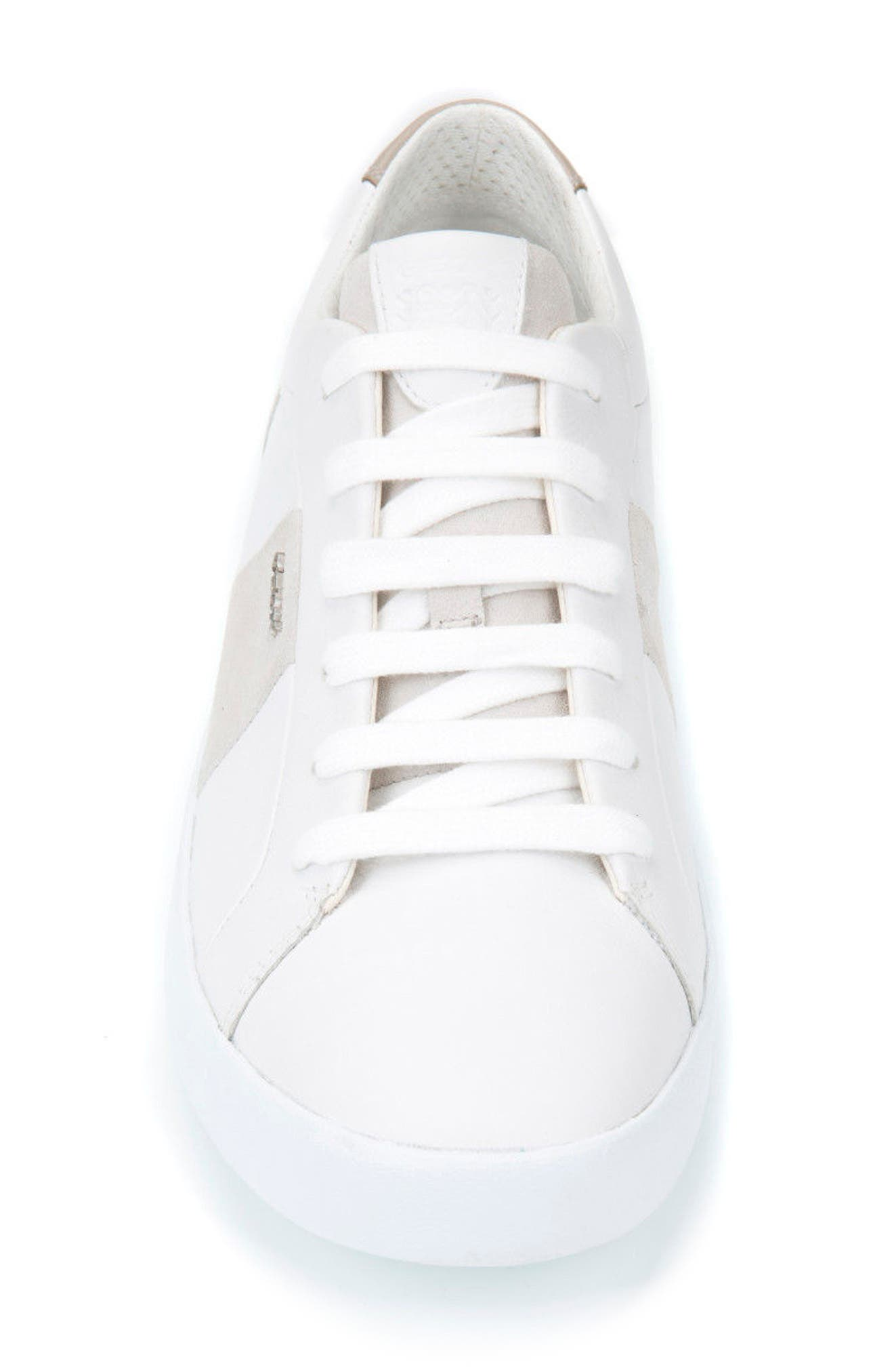 Smart 78 Sneaker,                             Alternate thumbnail 4, color,                             White/ Papyrus Leather