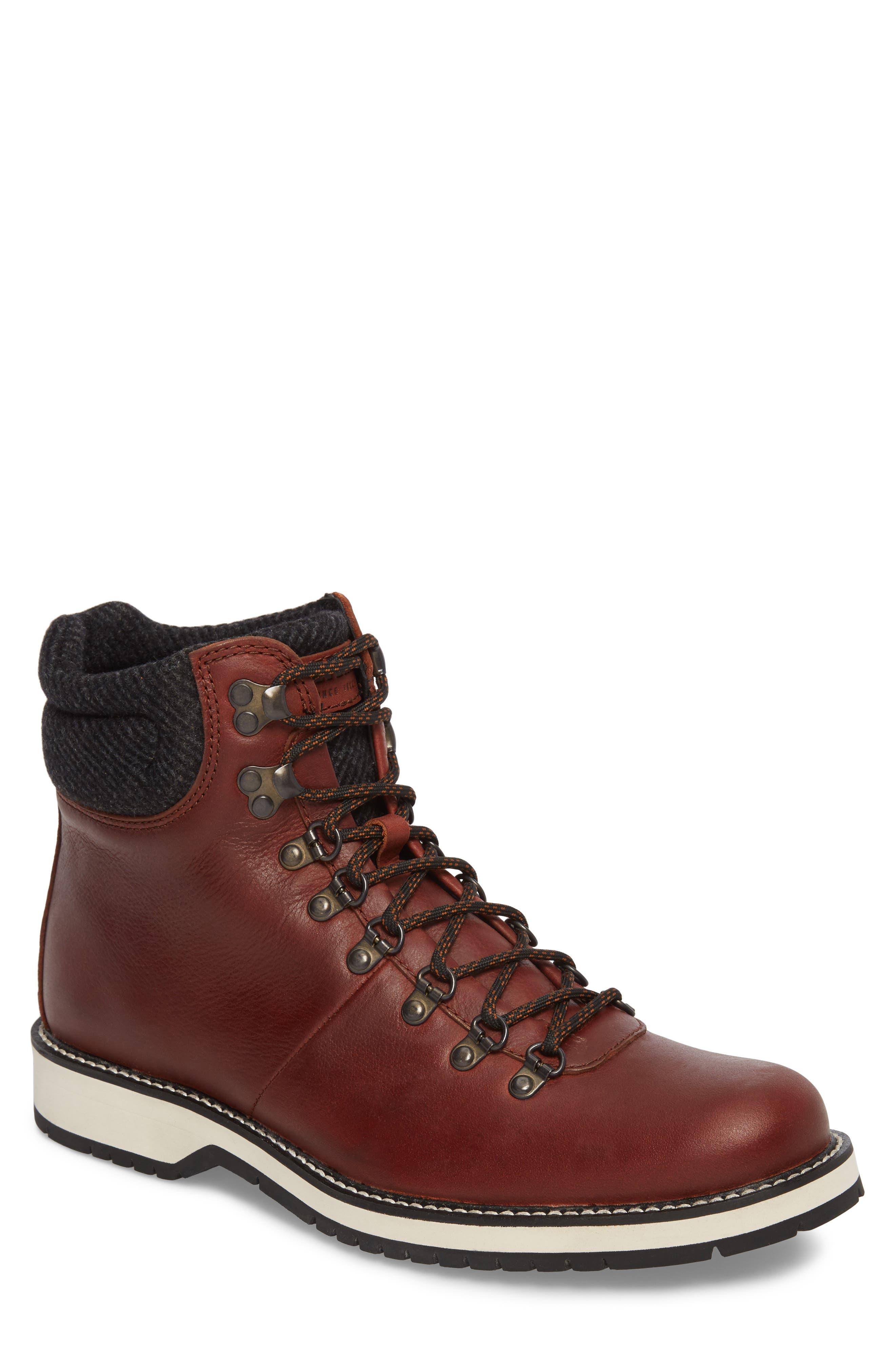 Sidney Waterproof Plain Toe Boot,                             Main thumbnail 1, color,                             Brown