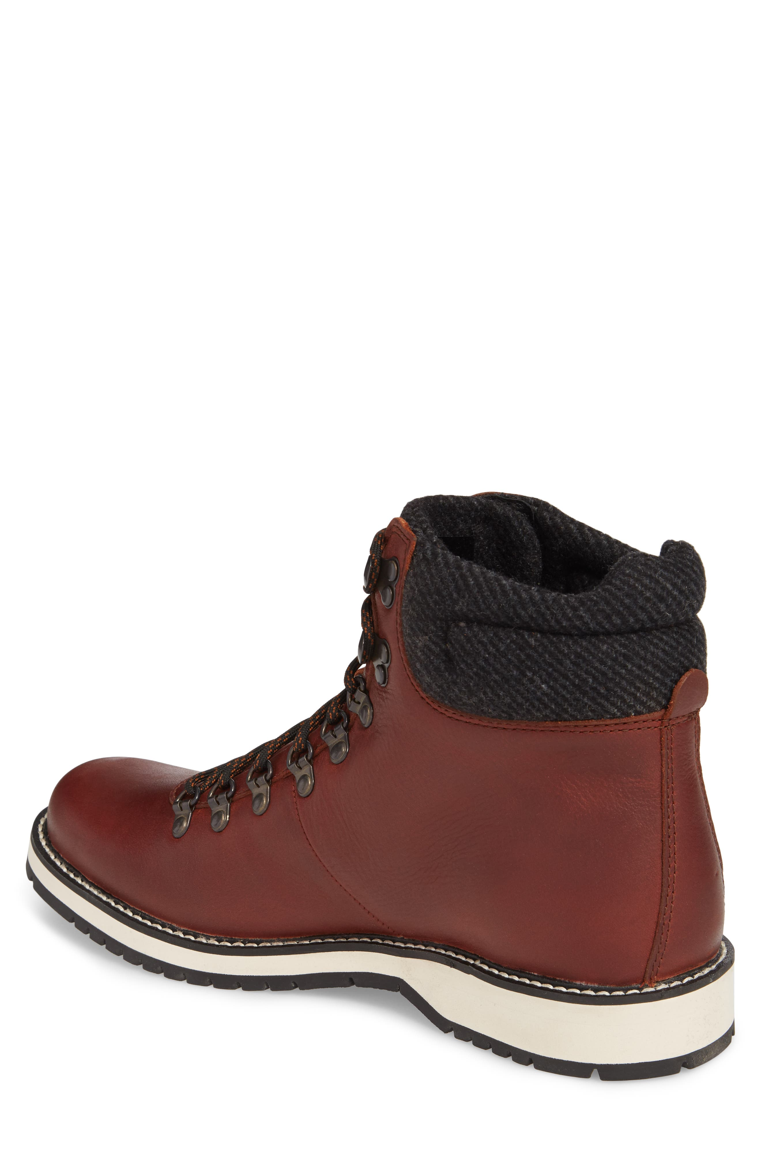 Sidney Waterproof Plain Toe Boot,                             Alternate thumbnail 2, color,                             Brown