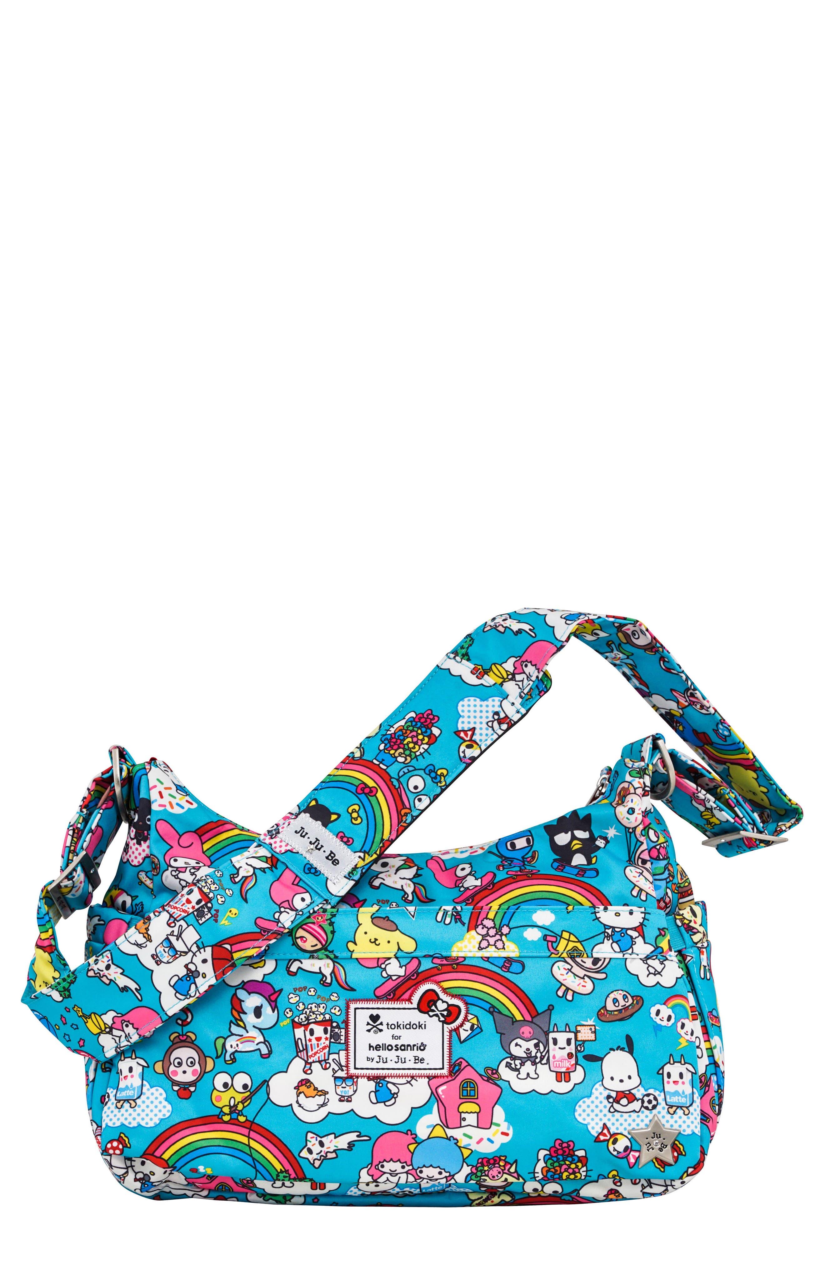 Ju-Ju-Be x tokidoki for Hello Sanrio Rainbow Dreams Be Hobo Diaper Bag