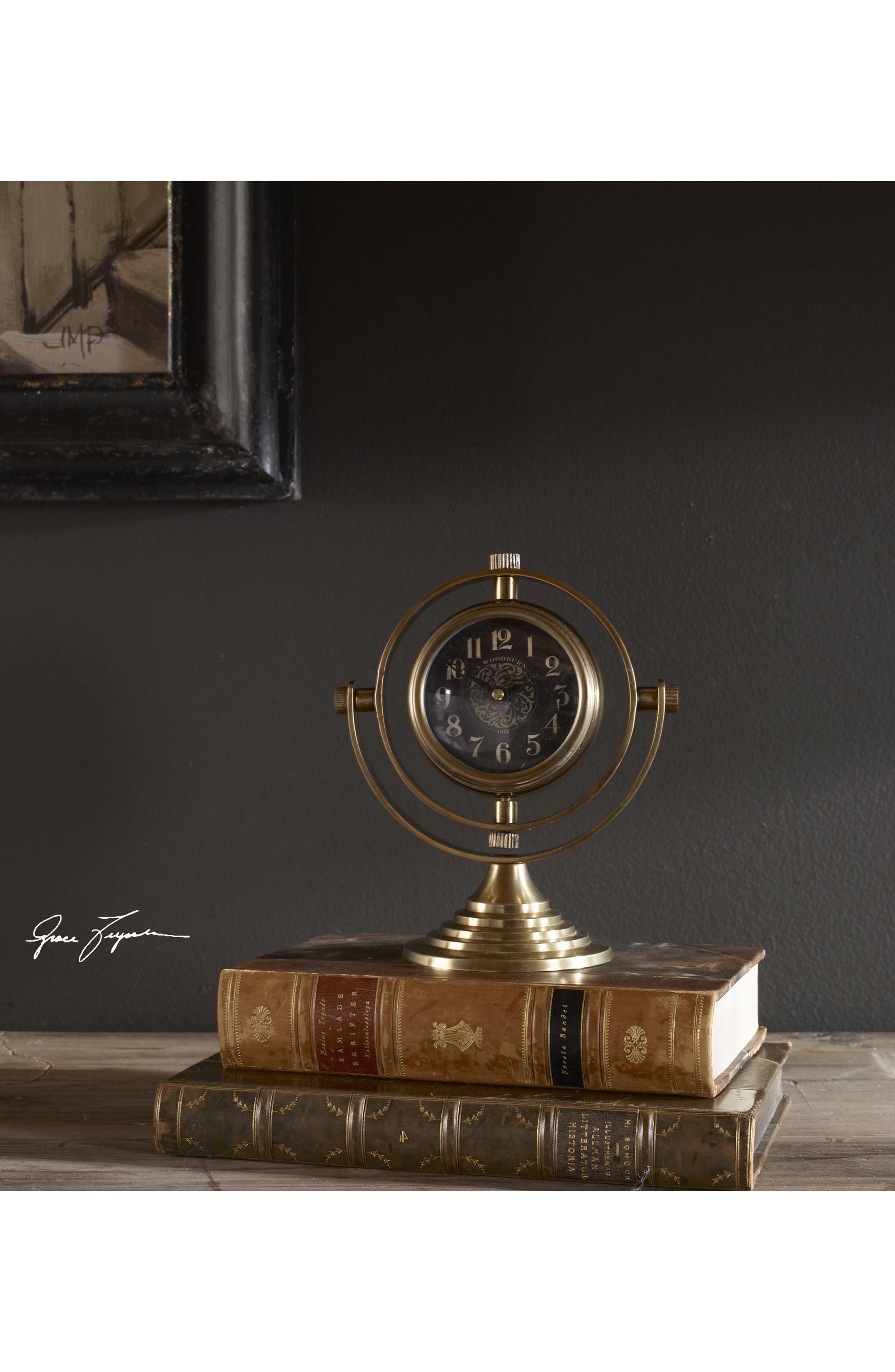 Alternate Image 2  - Uttermost Almonzo Table Clock