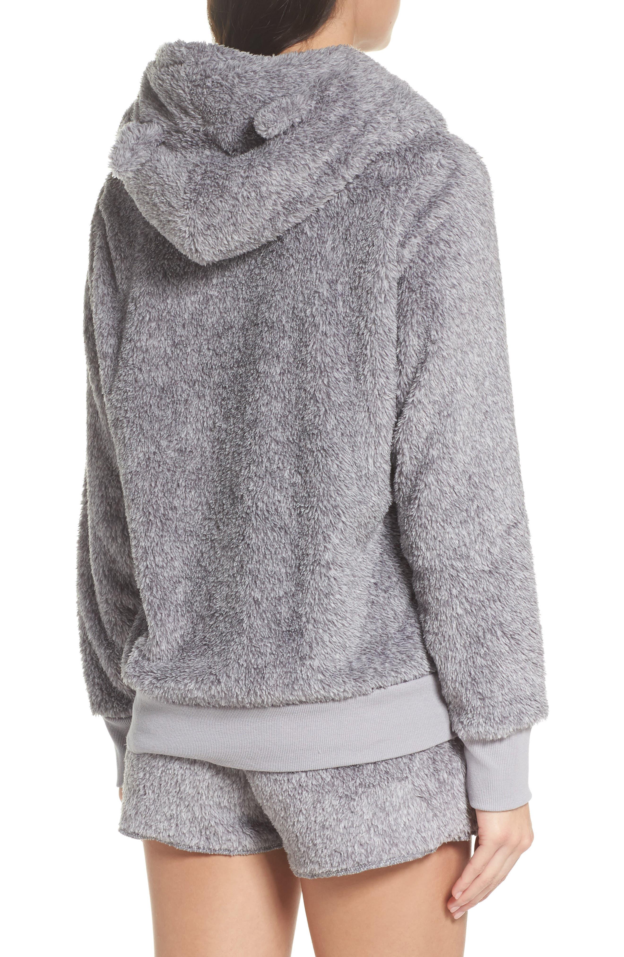 Alternate Image 2  - COZY ZOE Hooded Plush Pajamas