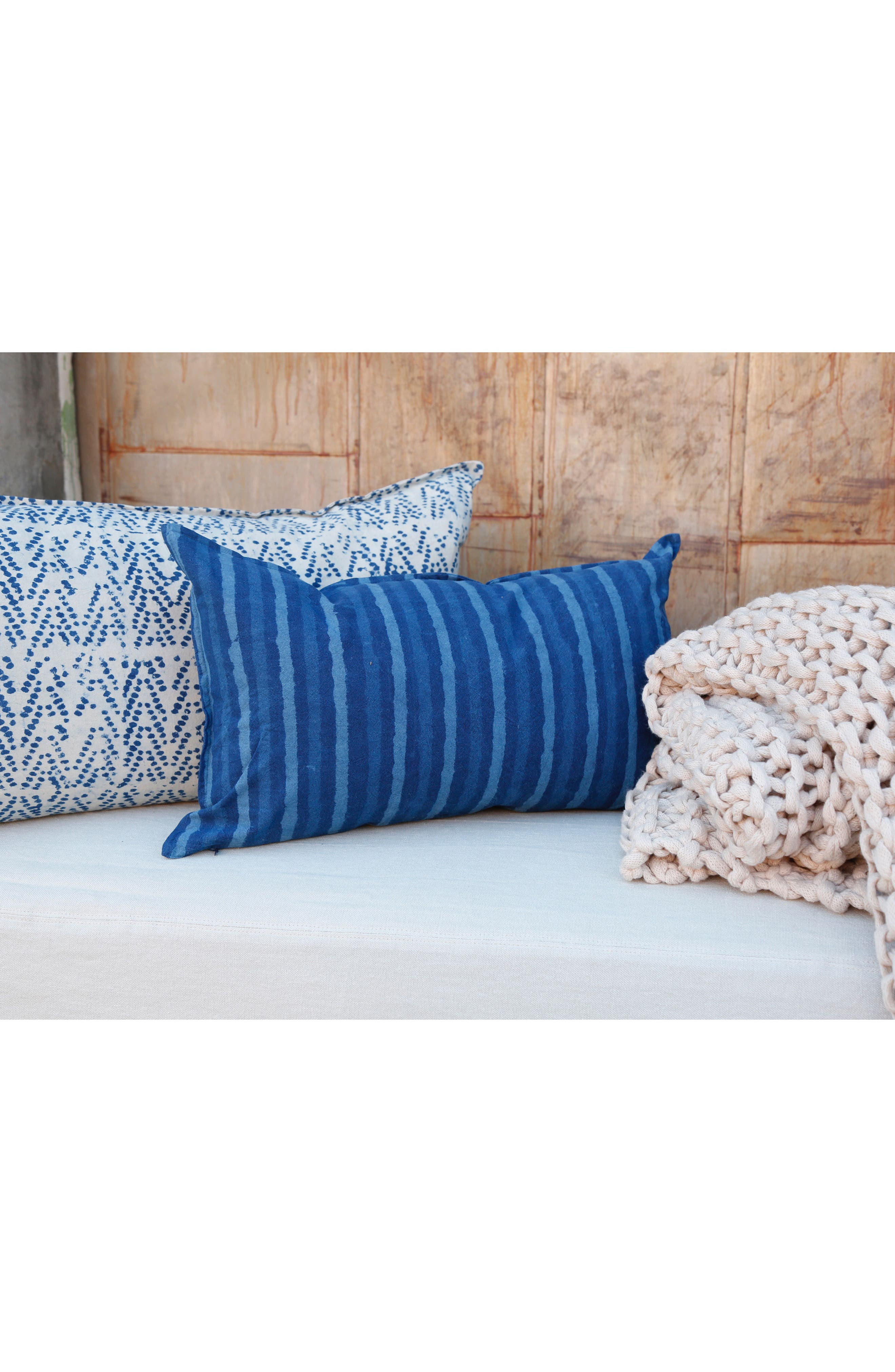 Indigo Stripe Accent Pillow,                             Alternate thumbnail 2, color,                             Blue Multi