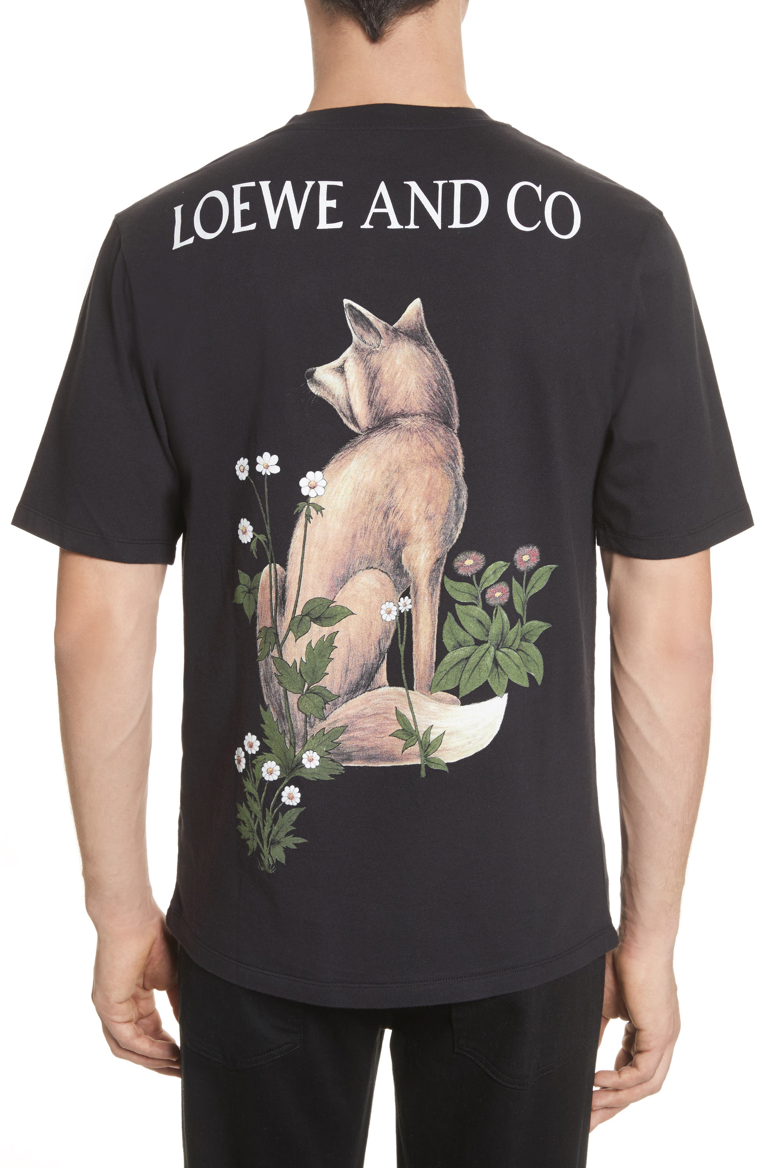 Loewe & Co. Graphic T-Shirt,                             Alternate thumbnail 2, color,                             Black