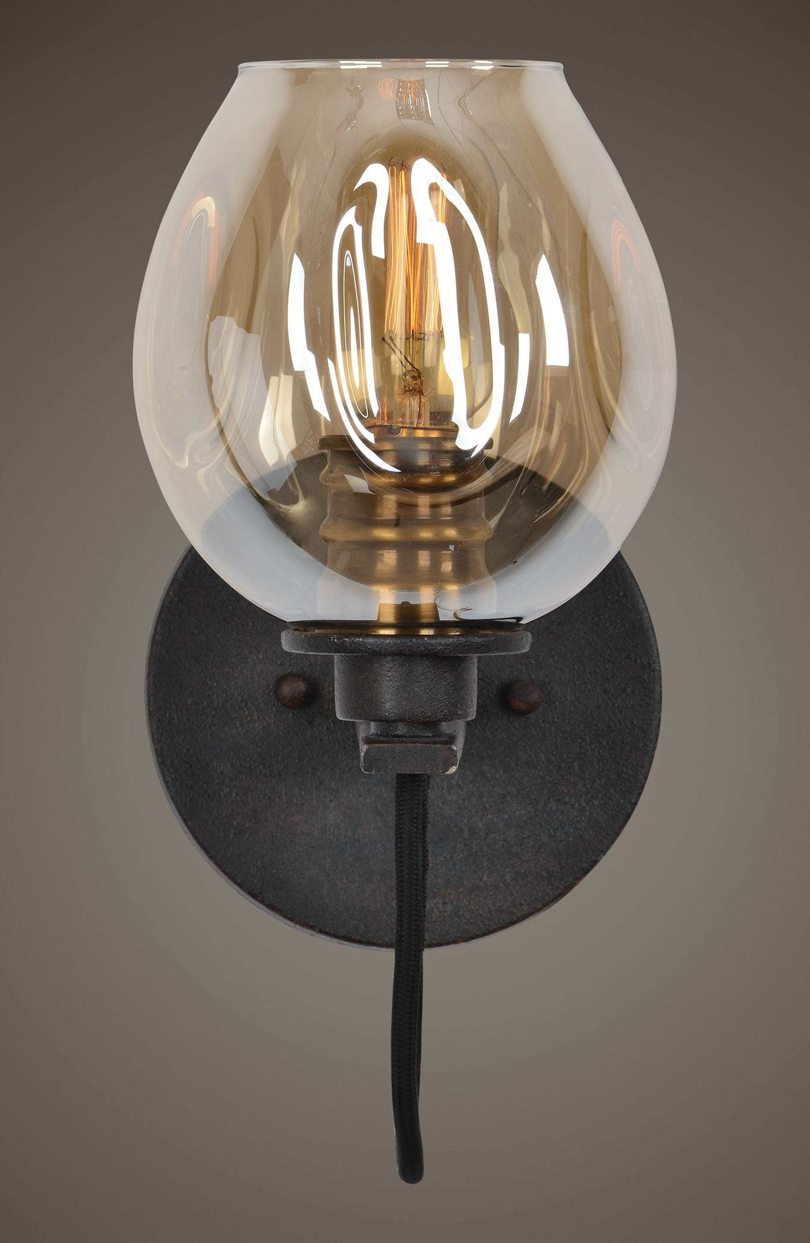 Fritz Wall Sconce,                             Alternate thumbnail 2, color,                             Brown