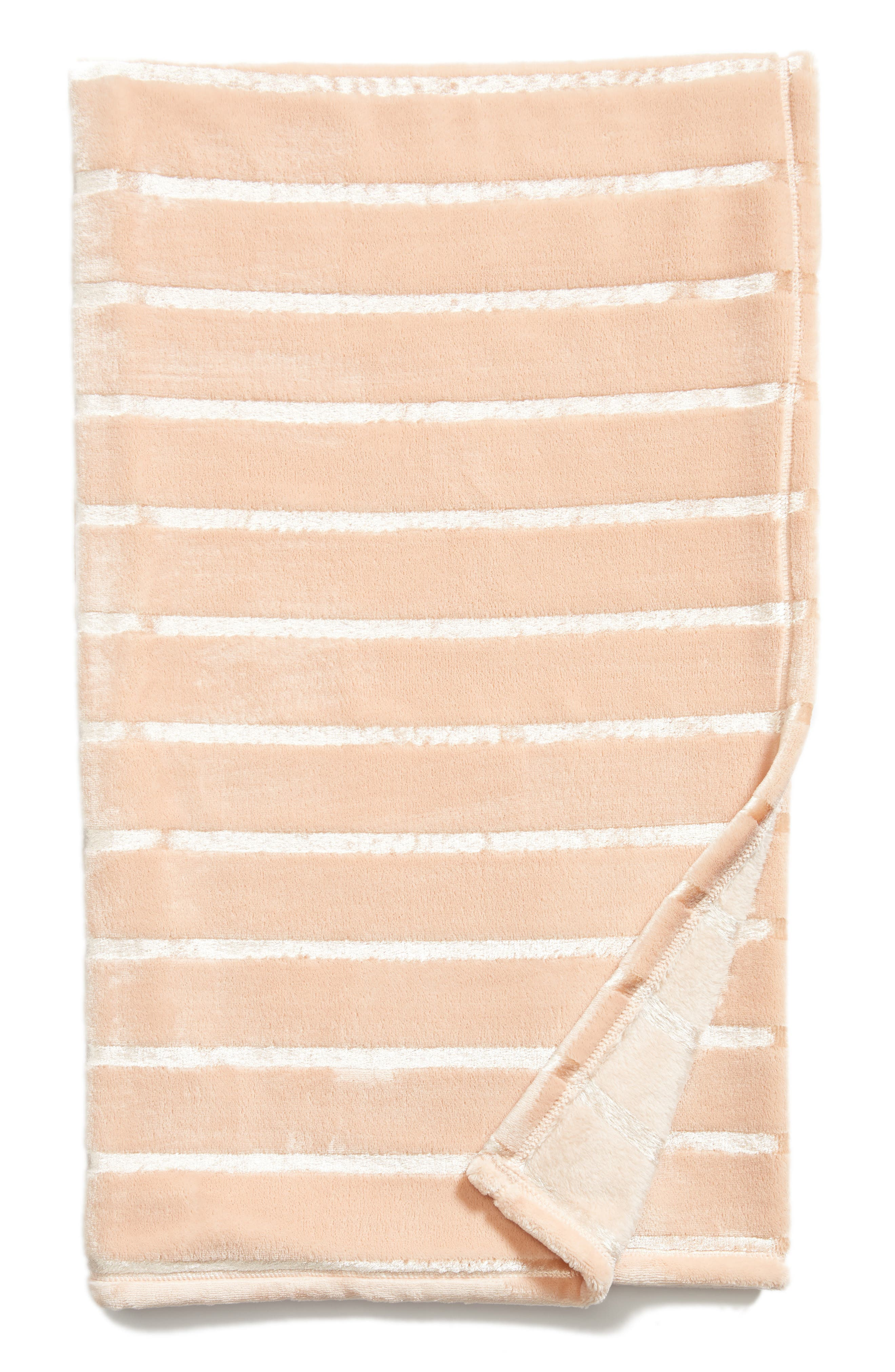 Shimmer Stripe Throw,                         Main,                         color, Pink Hero