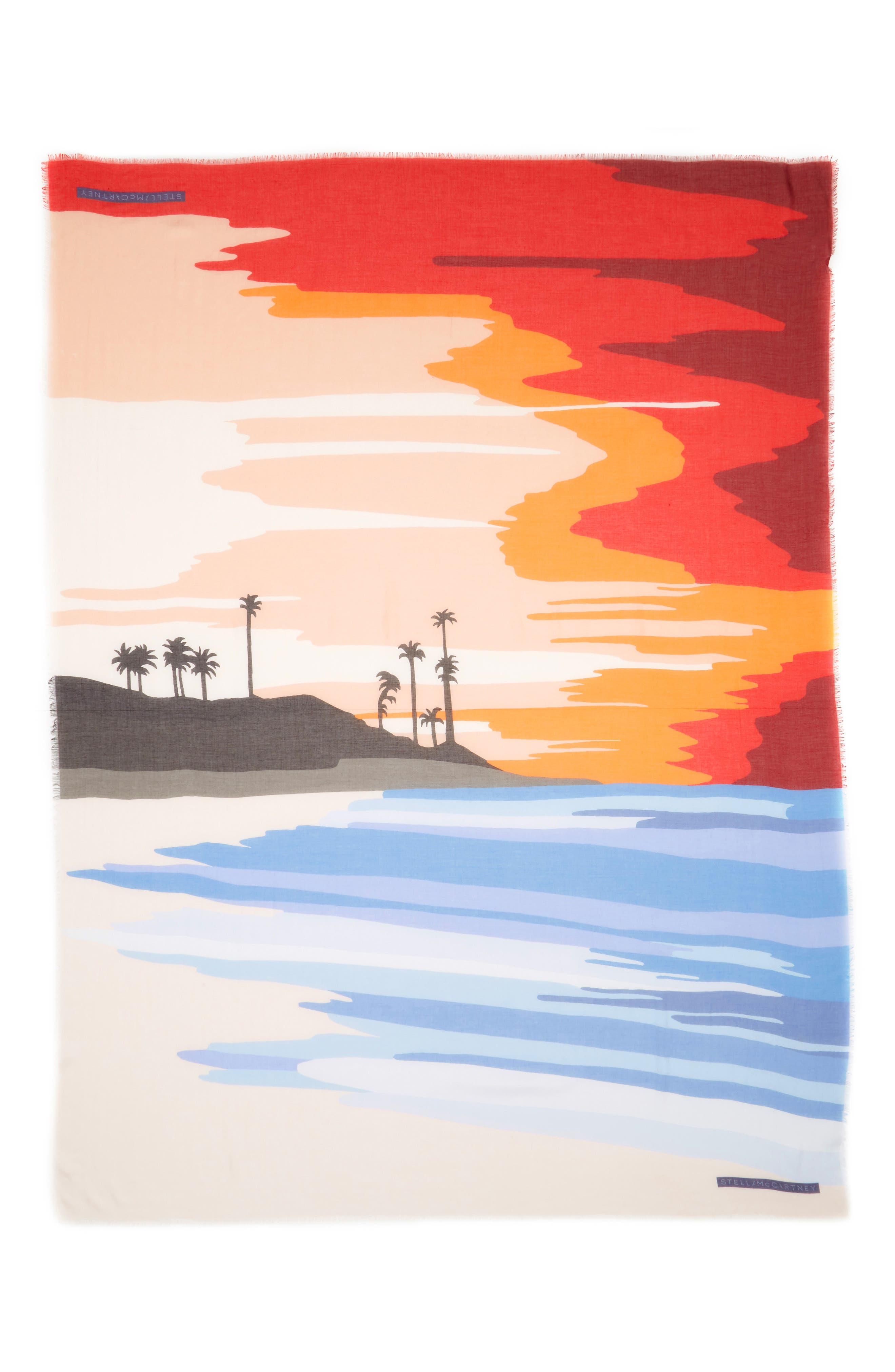 Tropical Sunset Print Scarf,                         Main,                         color, Multicolor