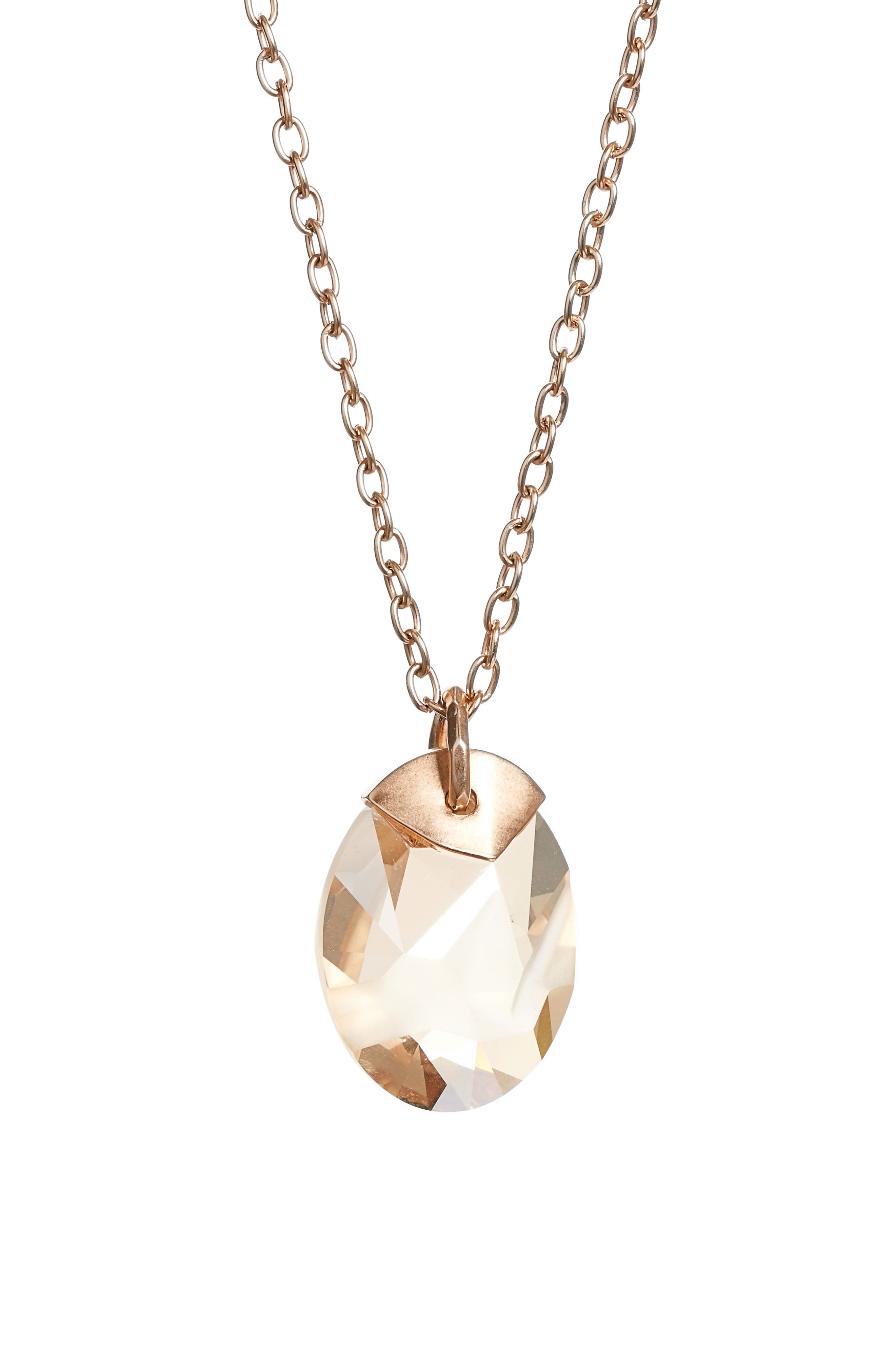 St. John Collection Swarovski Crystal Pendant Necklace