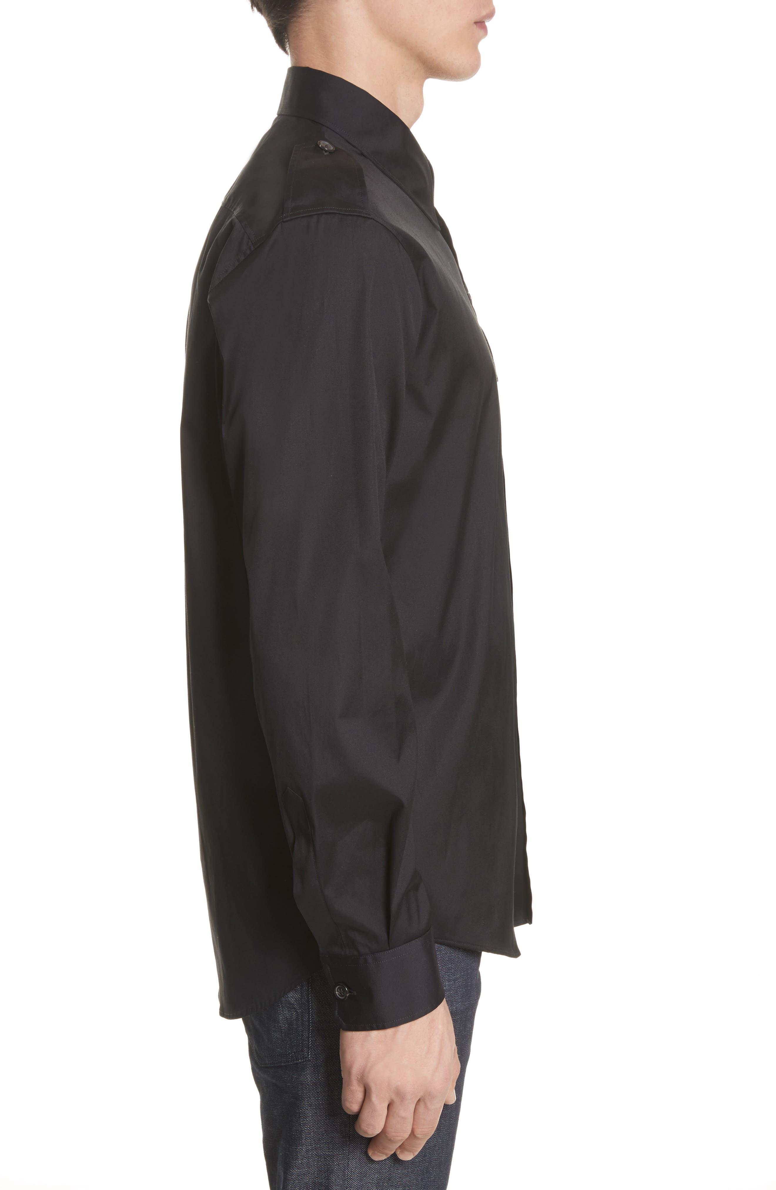 Military Shirt,                             Alternate thumbnail 4, color,                             Black