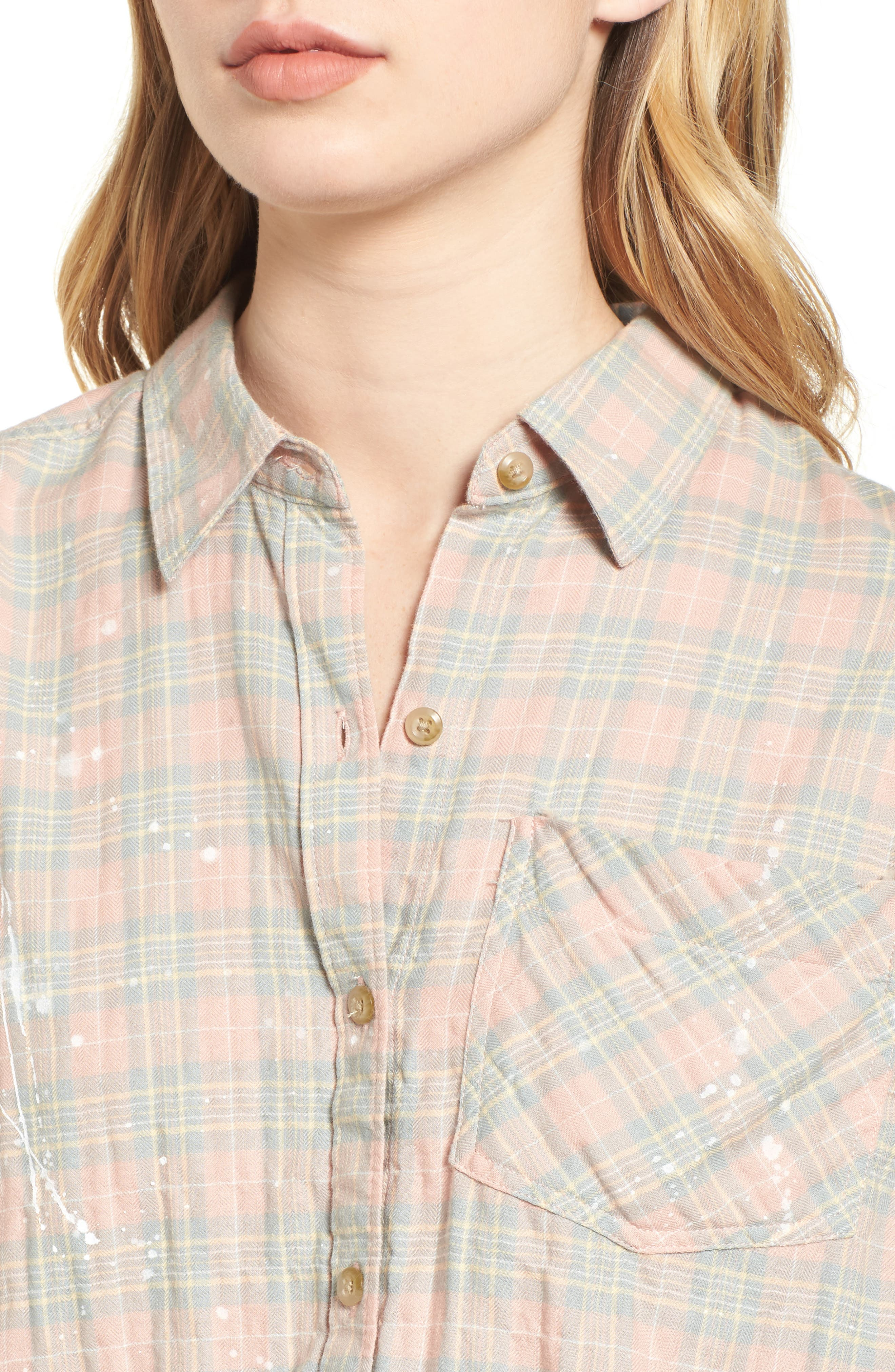 The Ivie Plaid Shirt,                             Alternate thumbnail 4, color,                             Sunshine Plaid