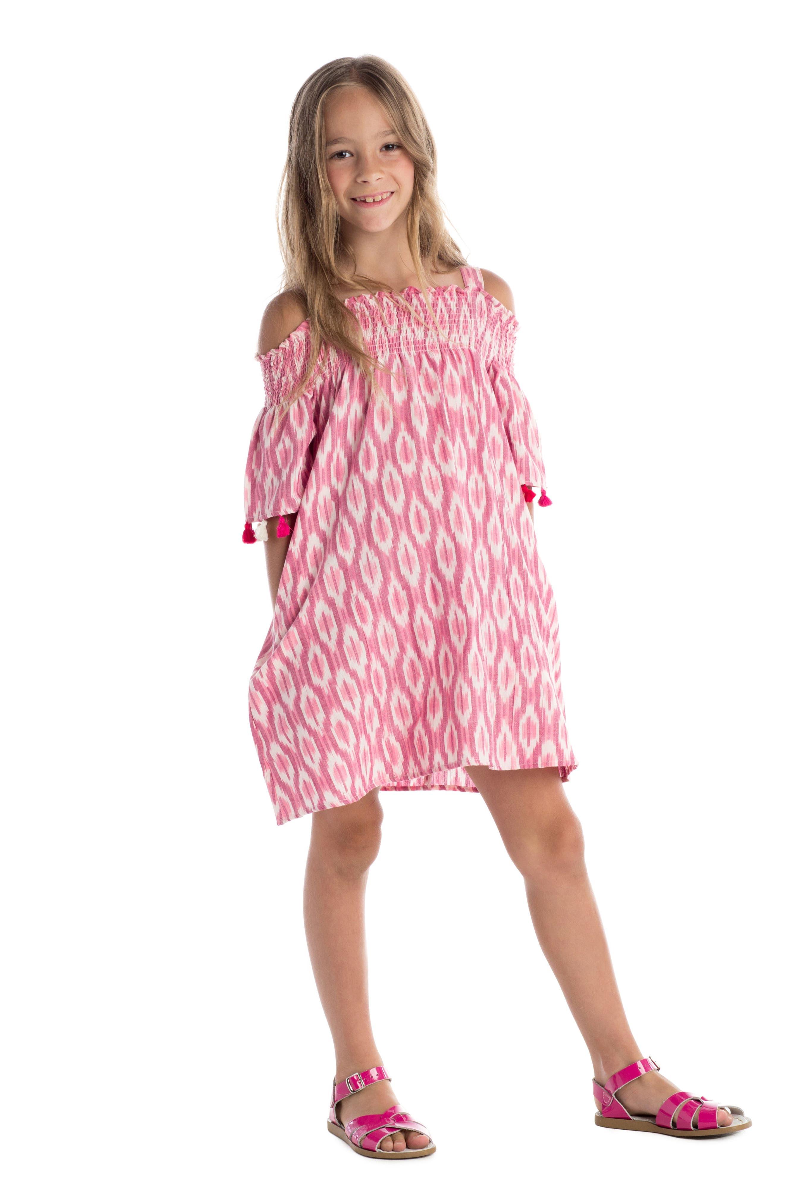 Alternate Image 2  - Masala Baby Rohi Ikat Print Dress (Toddler Girls, Little Girls & Big Girls)