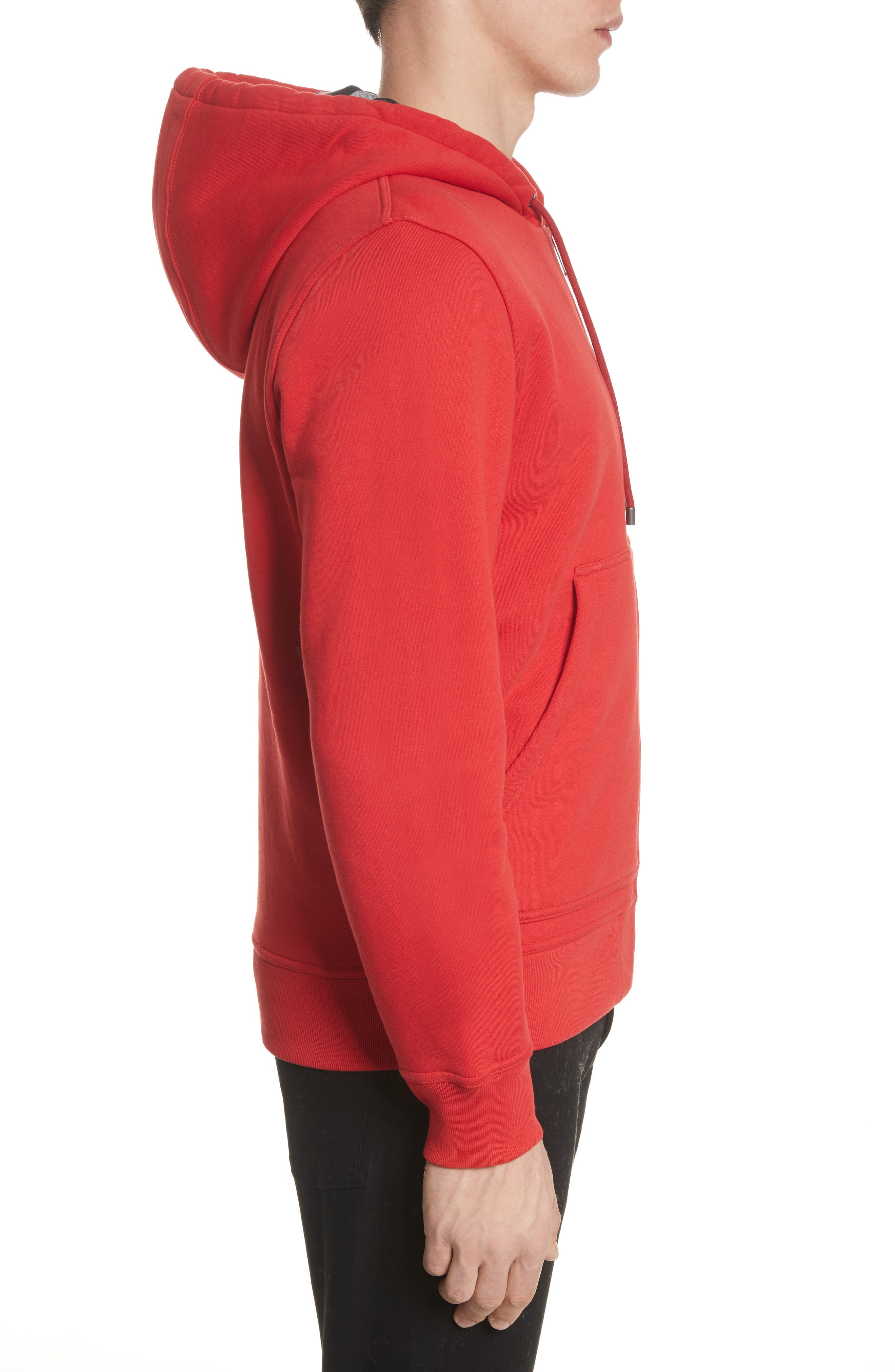Fordson Fleece Hoodie,                             Alternate thumbnail 3, color,                             Military Red