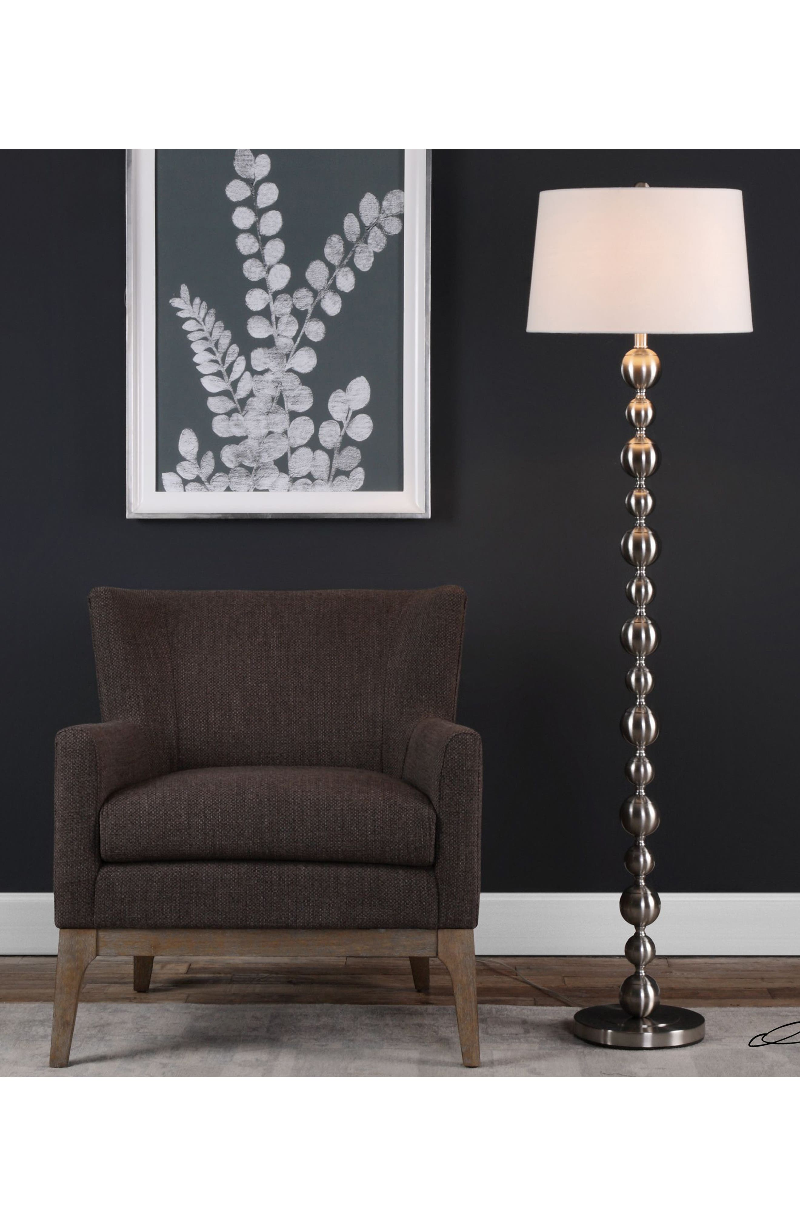 Eloisa Floor Lamp,                             Alternate thumbnail 2, color,                             Brown