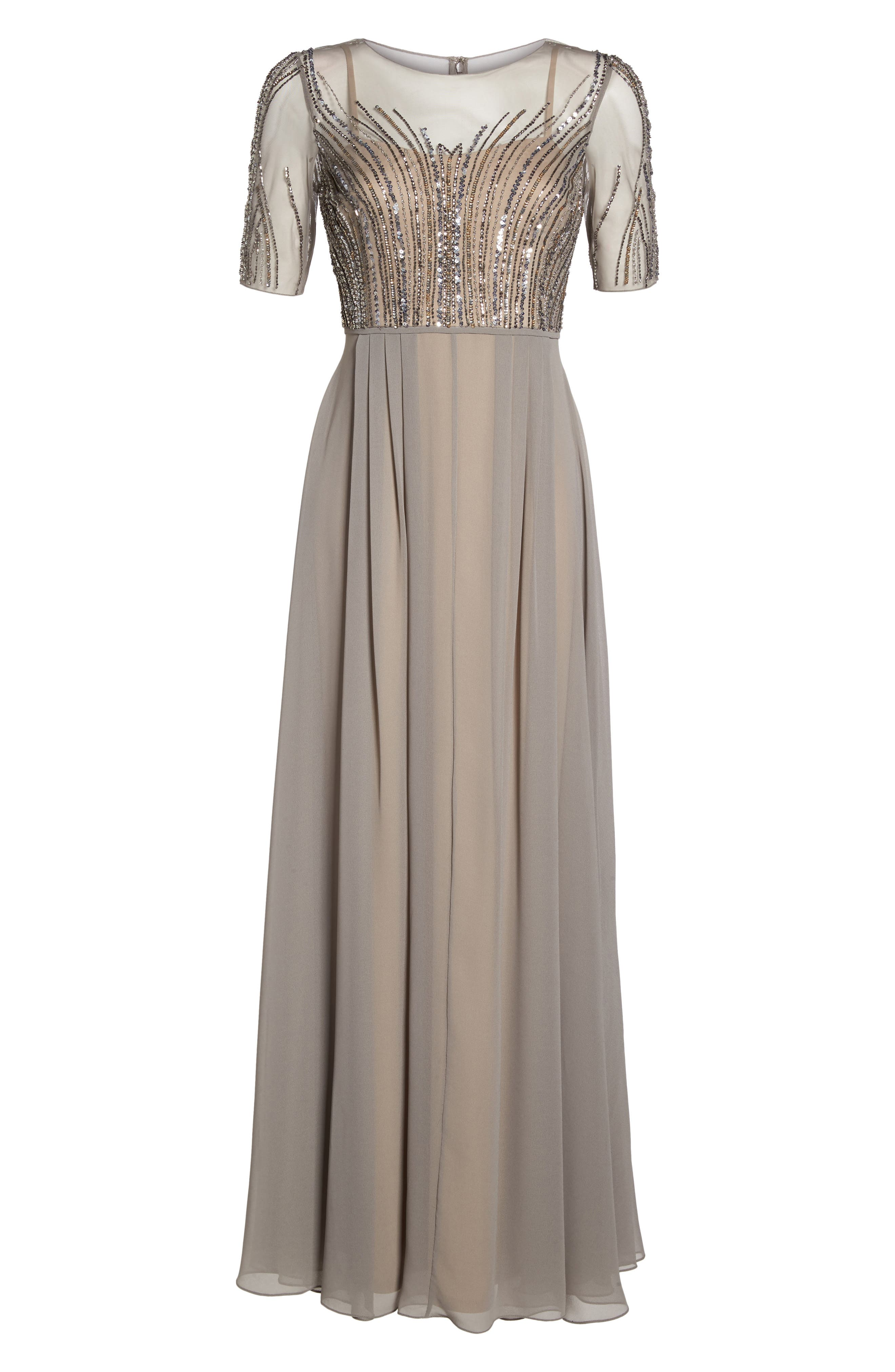 Alternate Image 6  - Adrianna Papell Embellished Georgette Gown