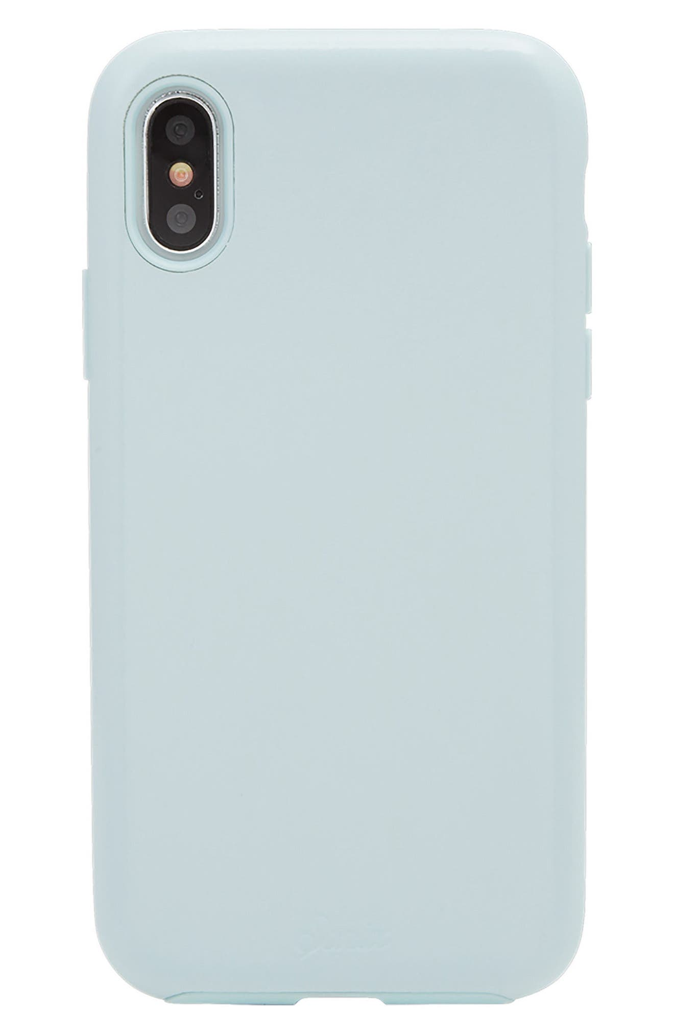 Alternate Image 1 Selected - Sonix Powder Blue Faux Leather iPhone X Case