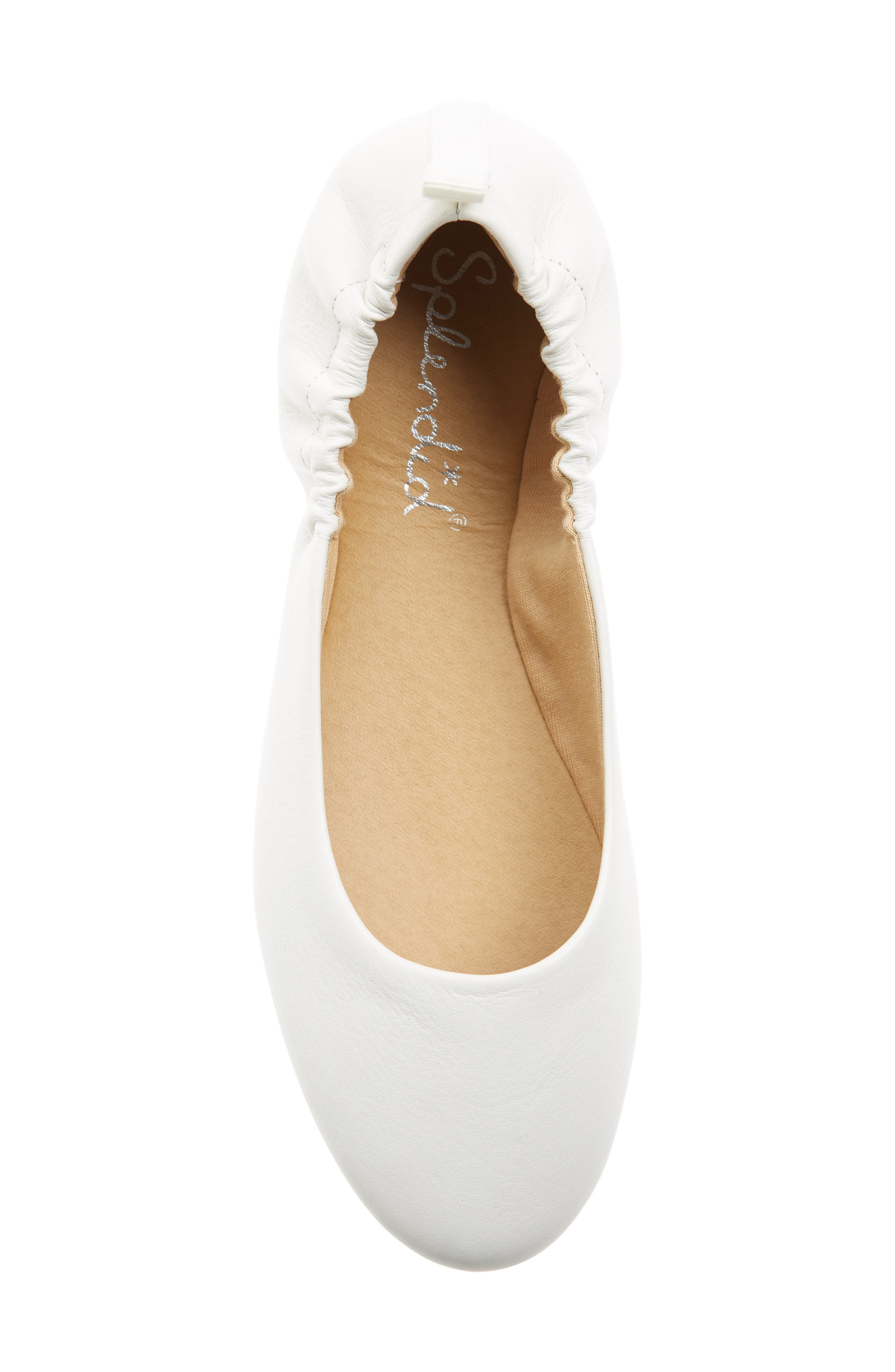 Bailee Skimmer Flat,                             Alternate thumbnail 5, color,                             Off White Leather