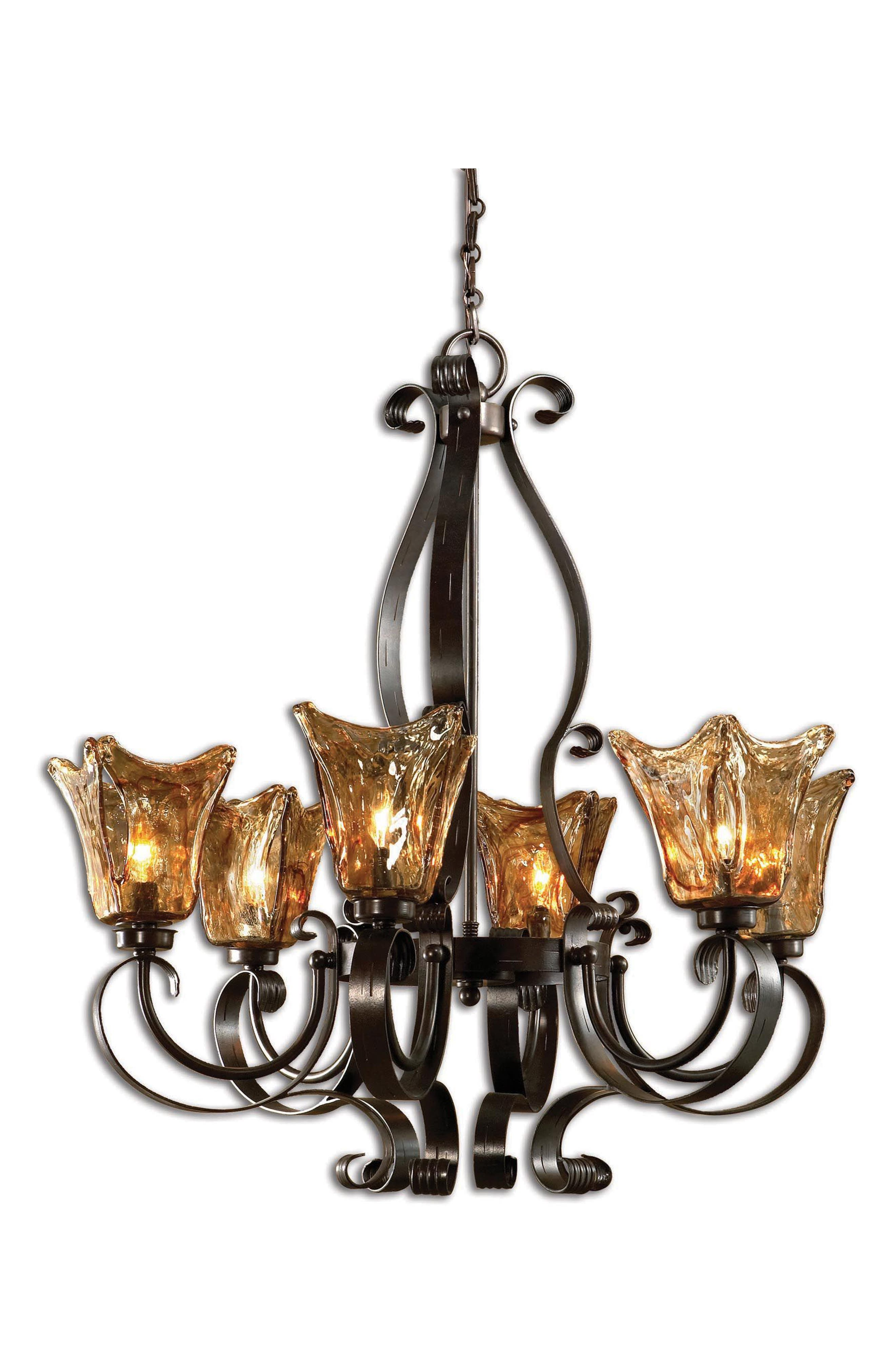 Vetraio Chandelier,                             Main thumbnail 1, color,                             Brown