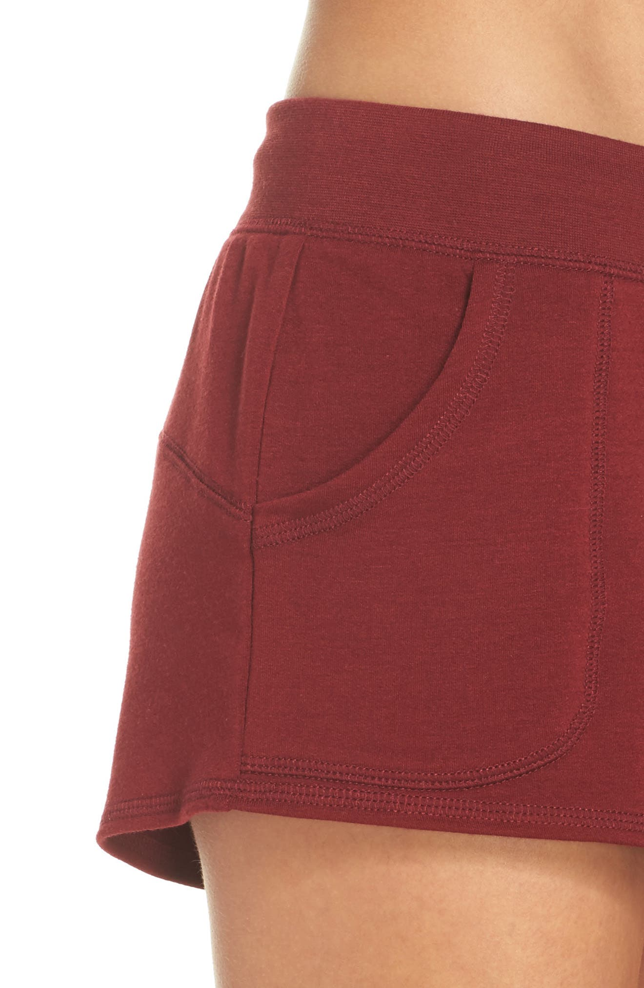 Down To The Details Lounge Shorts,                             Alternate thumbnail 5, color,                             Red Grape
