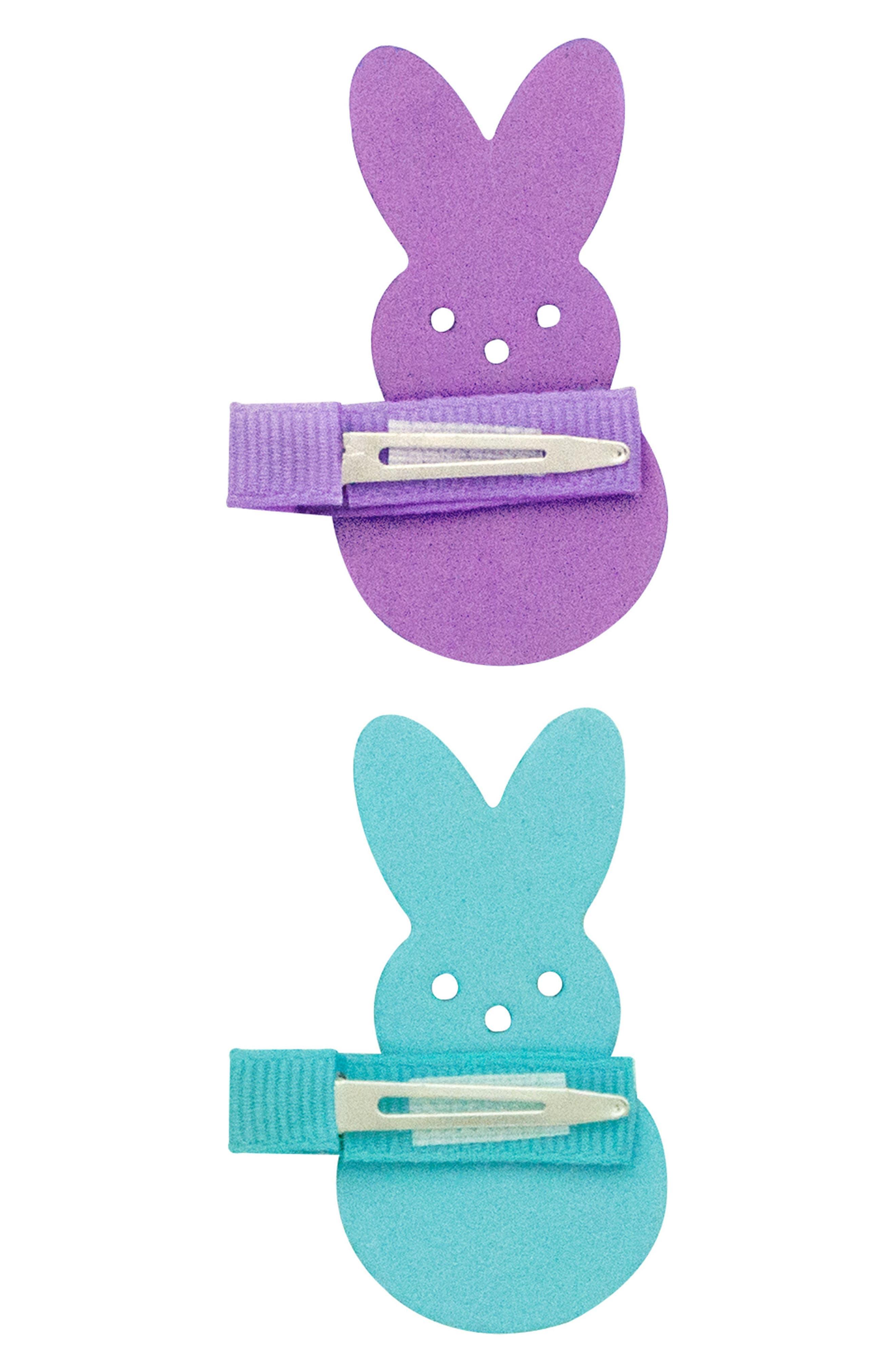 2-Pack Bunny Clips,                             Alternate thumbnail 3, color,                             Multi Purple