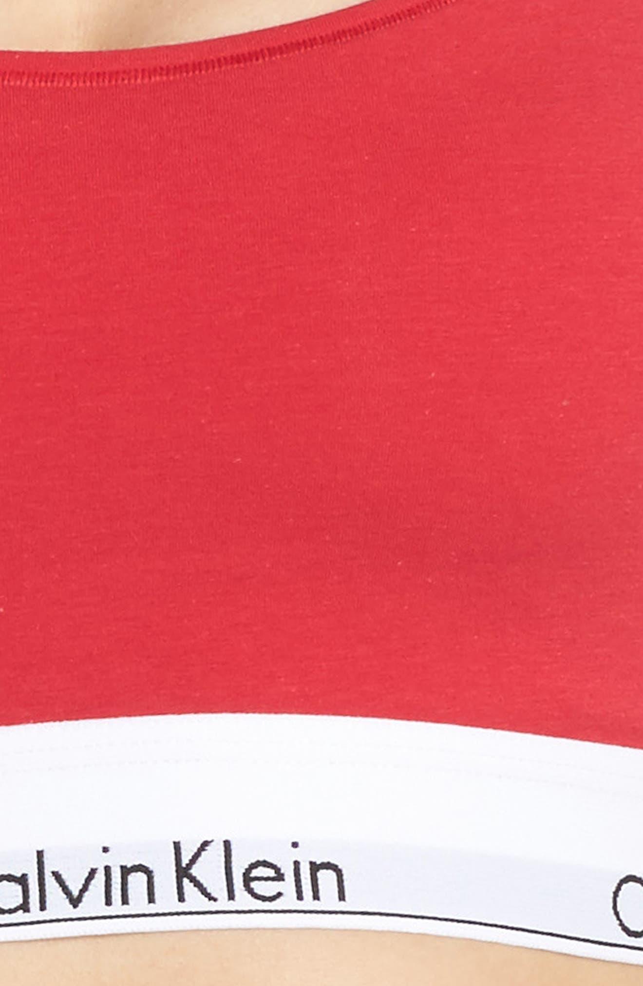 Modern Cotton Bralette,                             Alternate thumbnail 5, color,                             Empower