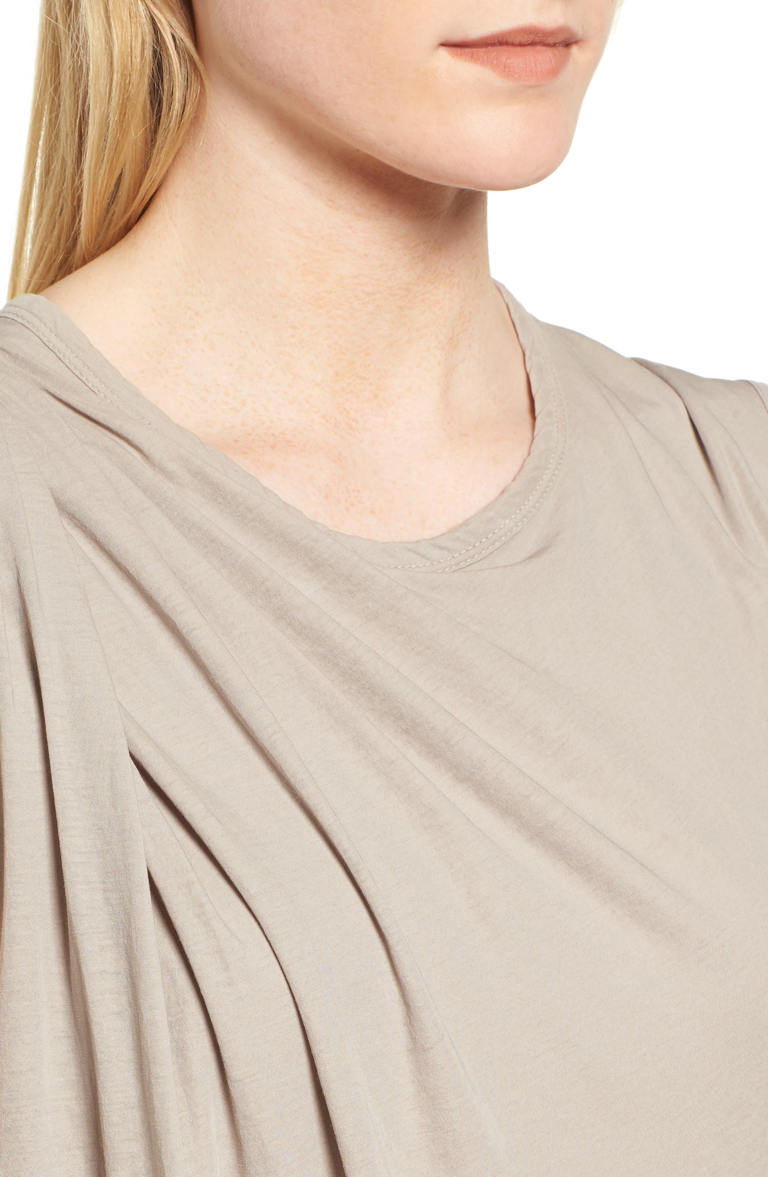 Alternate Image 4  - James Perse Draped Midi Dress