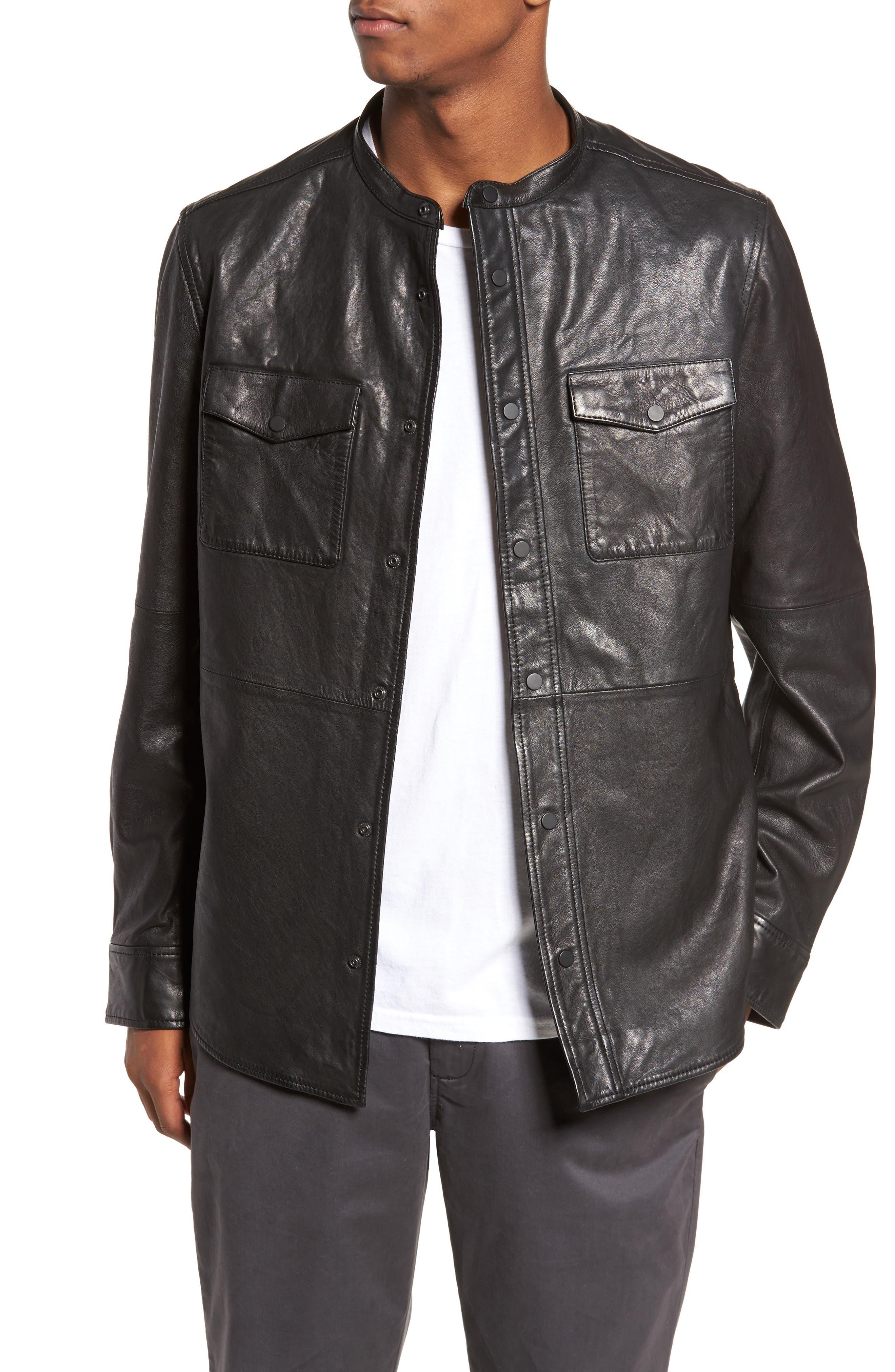 Main Image - Treasure & Bond Atwater Leather Shirt Jacket