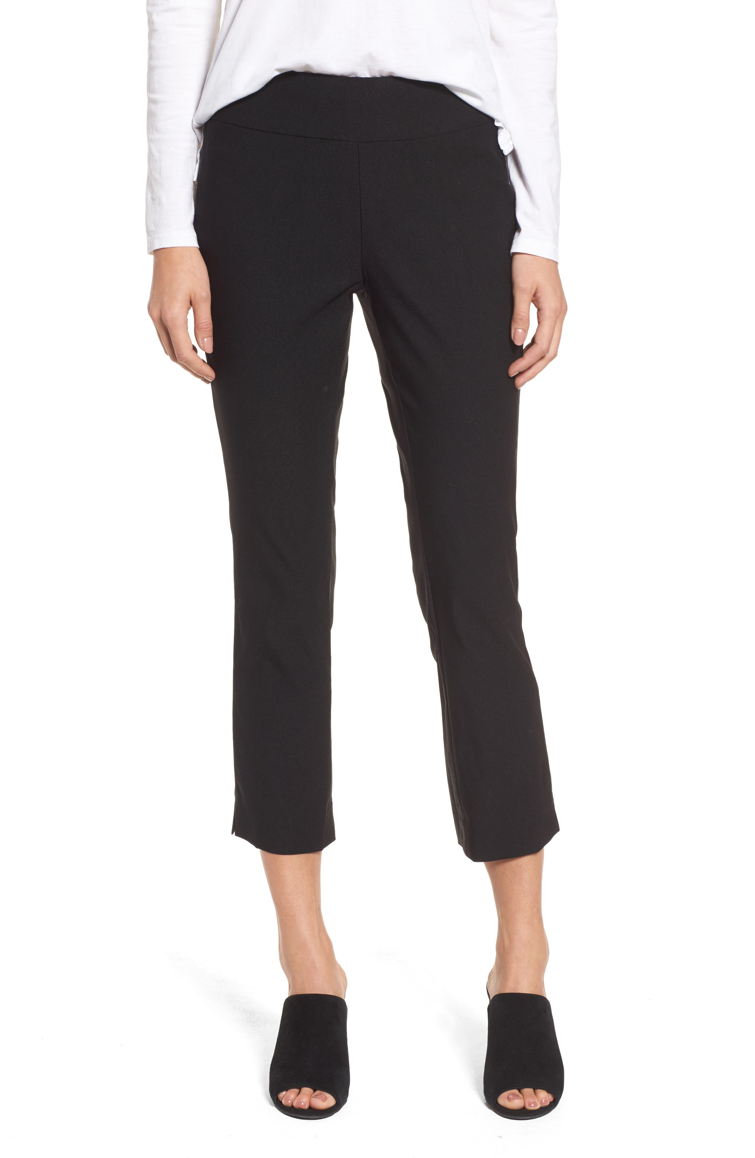 Wonder Stretch Crop Pants,                             Main thumbnail 1, color,                             Black Onyx