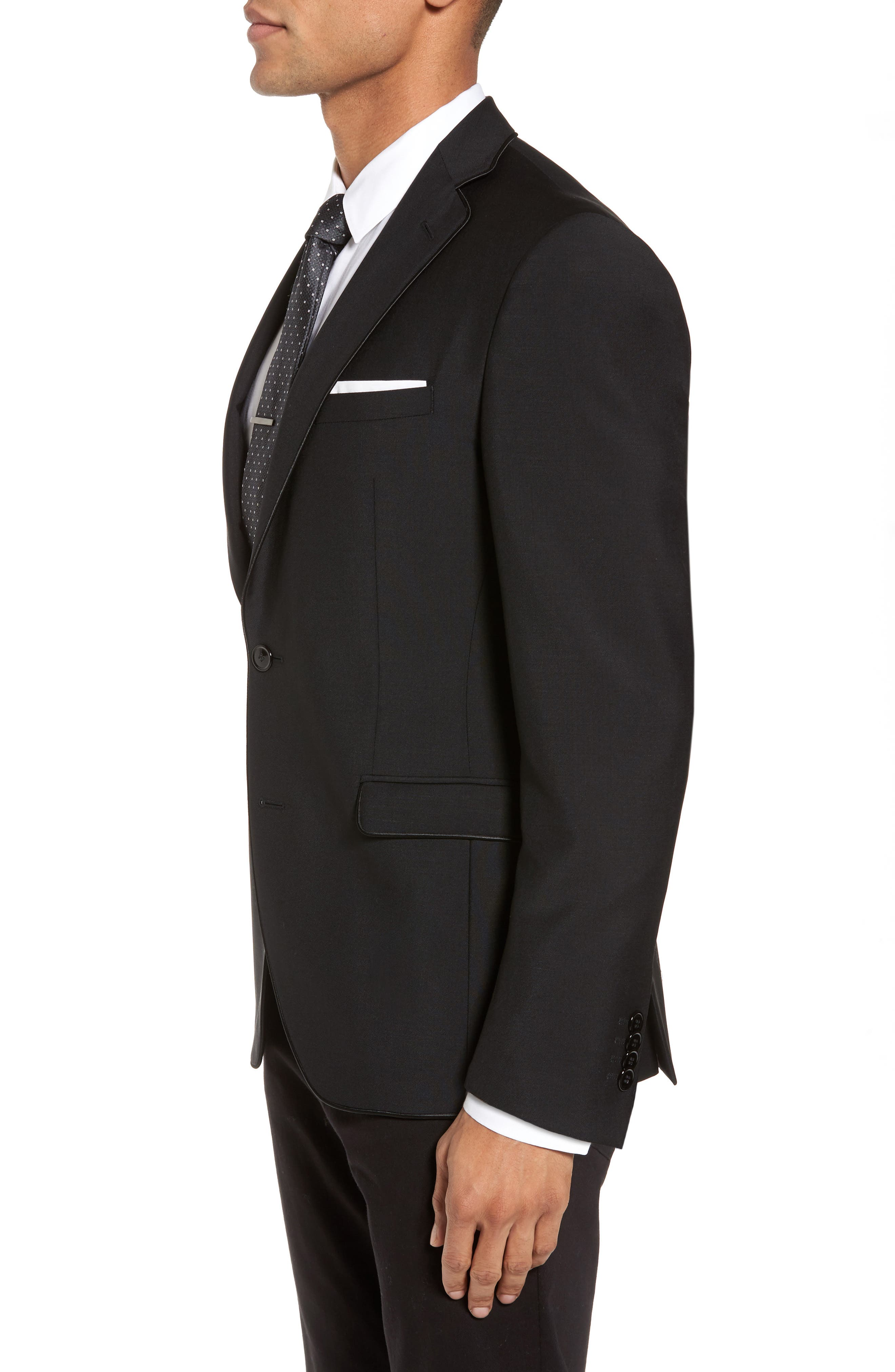 Alternate Image 3  - BOSS Reman Extra Trim Fit Wool & Mohair Blazer