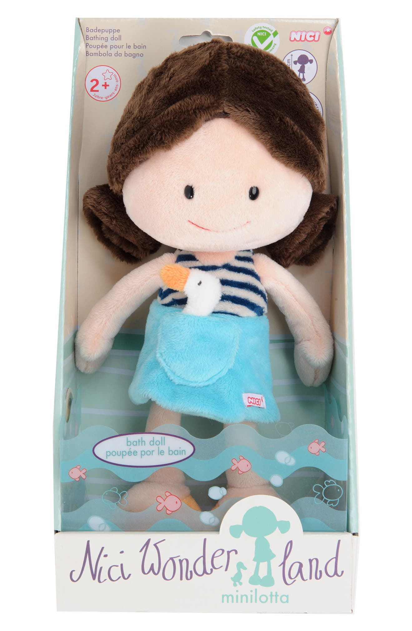 Neat Oh! Nici<sup>®</sup> Wonderland Minilotta the Bathing Plush Doll,                         Main,                         color, Blue