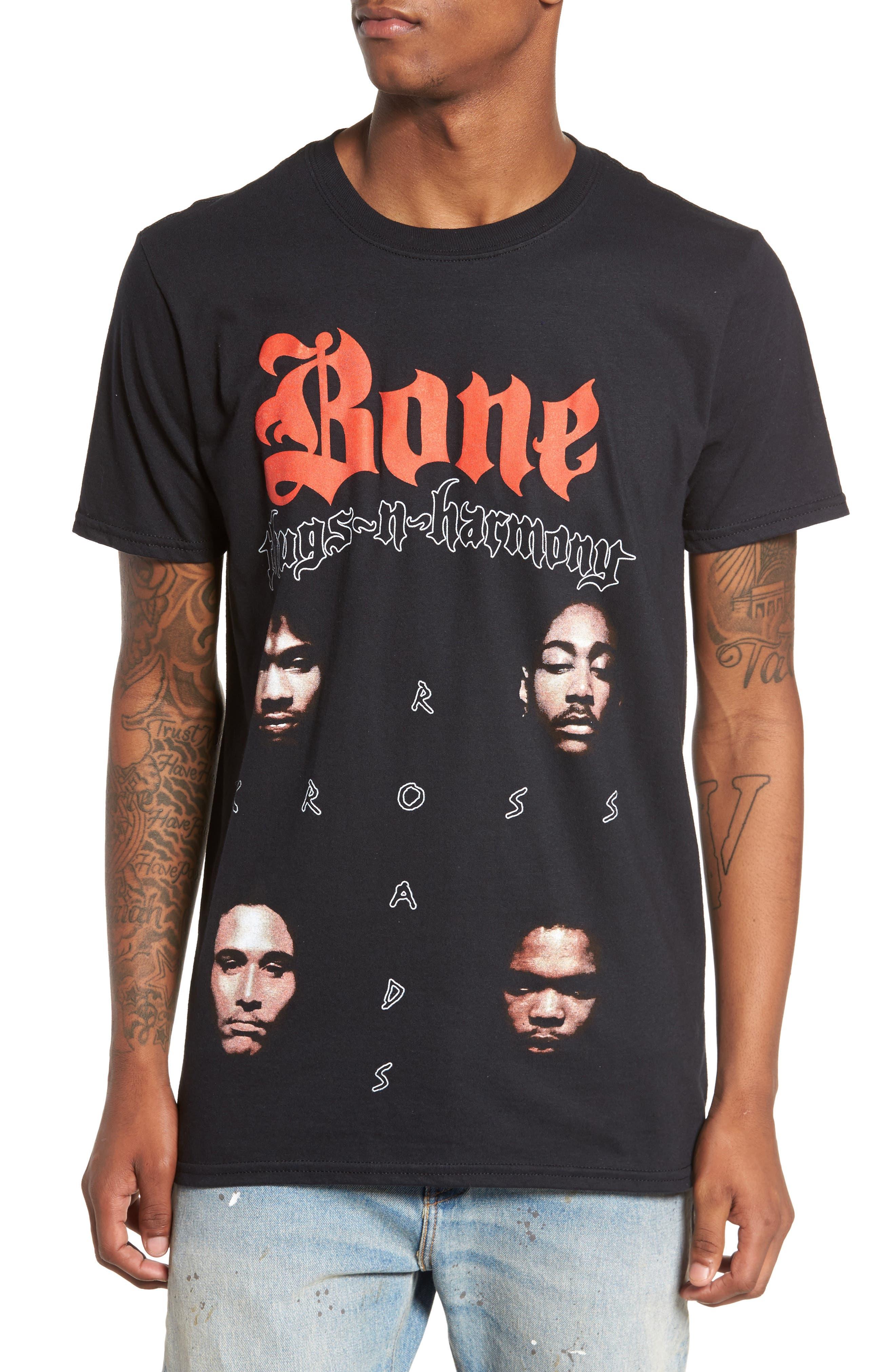 Bone Thugs-n-Harmony T-Shirt,                             Main thumbnail 1, color,                             Black Tee Bone Thugs